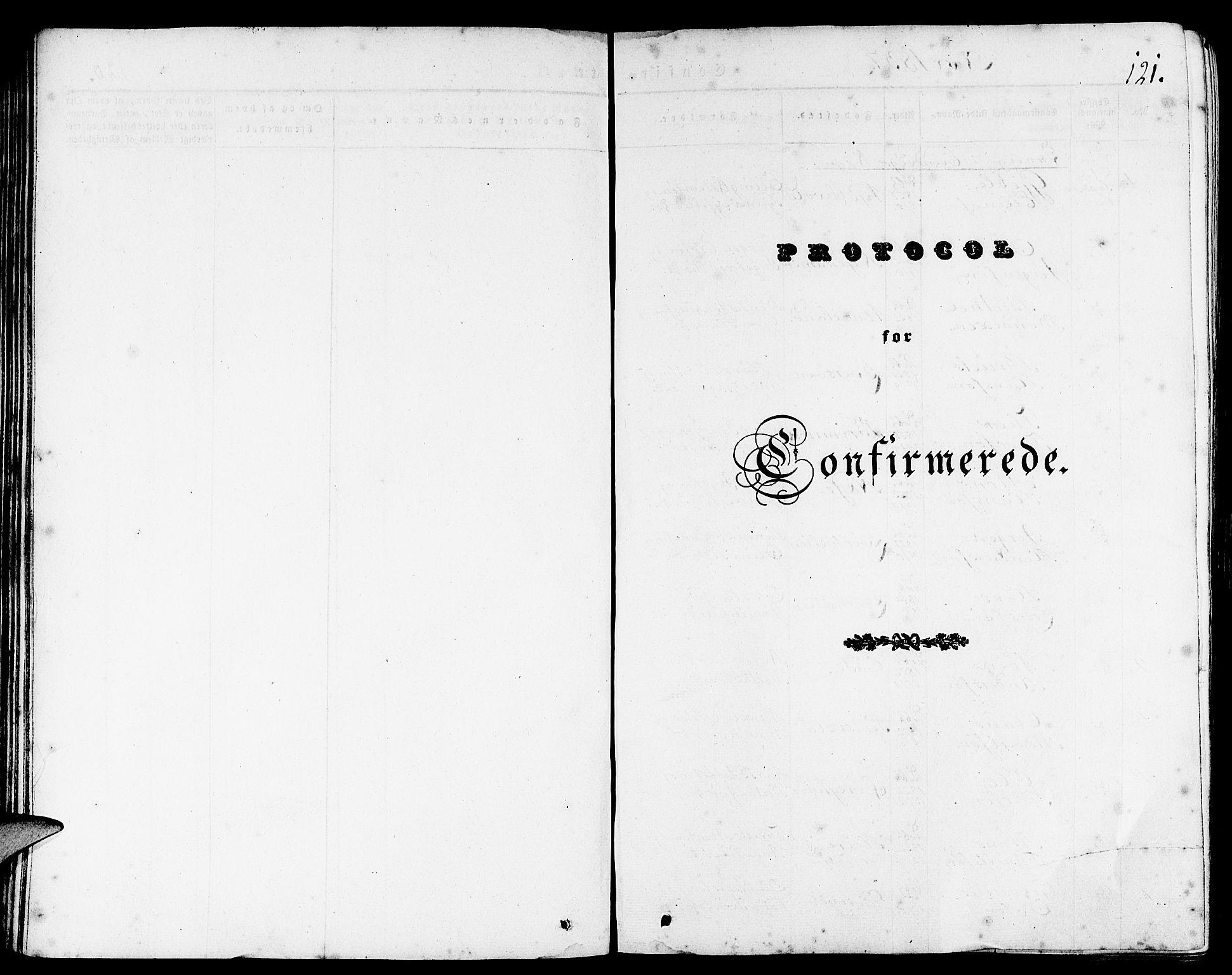 SAB, Gulen Sokneprestembete, Ministerialbok nr. A 20, 1837-1847, s. 121
