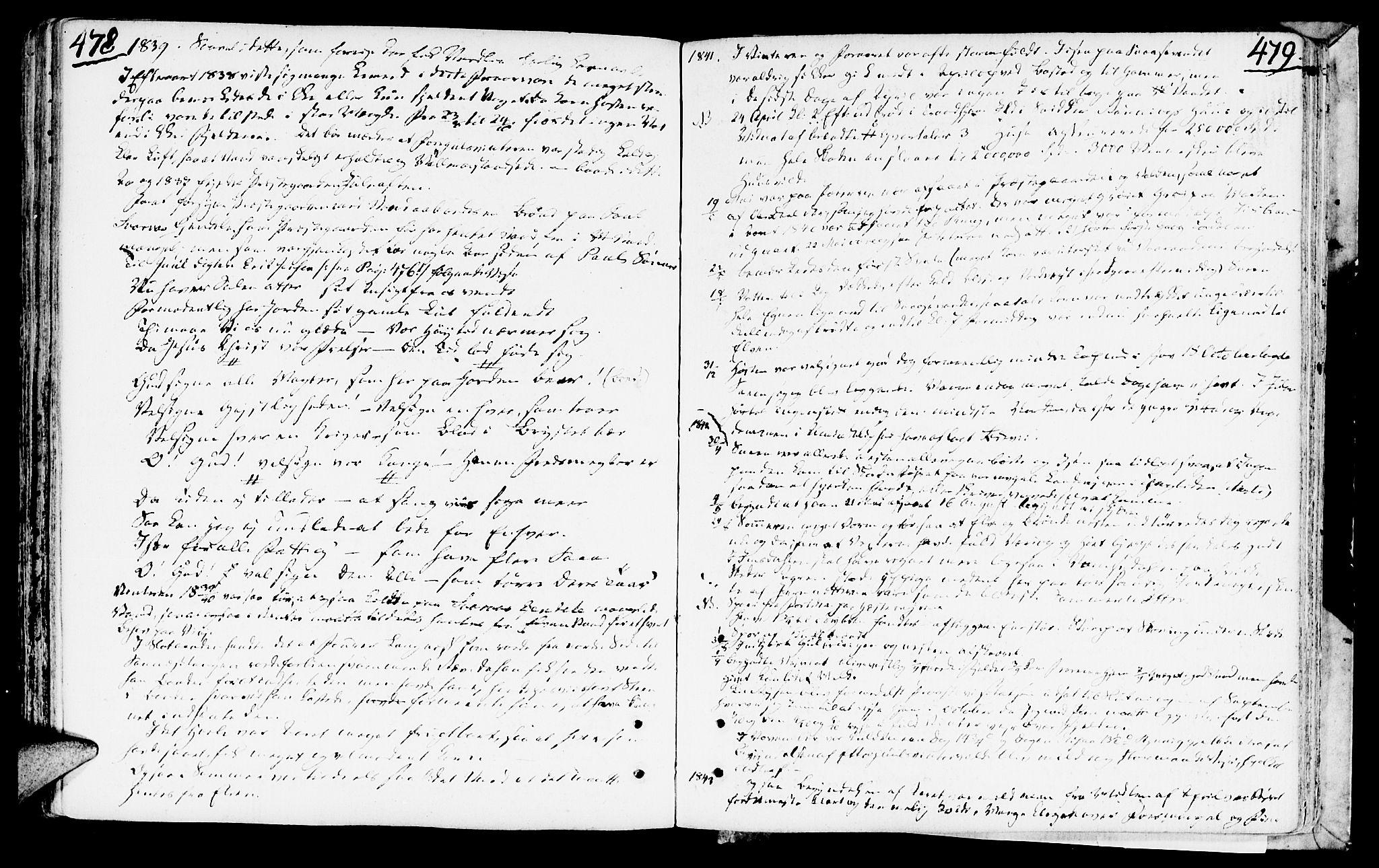 SAT, Ministerialprotokoller, klokkerbøker og fødselsregistre - Nord-Trøndelag, 749/L0468: Ministerialbok nr. 749A02, 1787-1817, s. 478-479