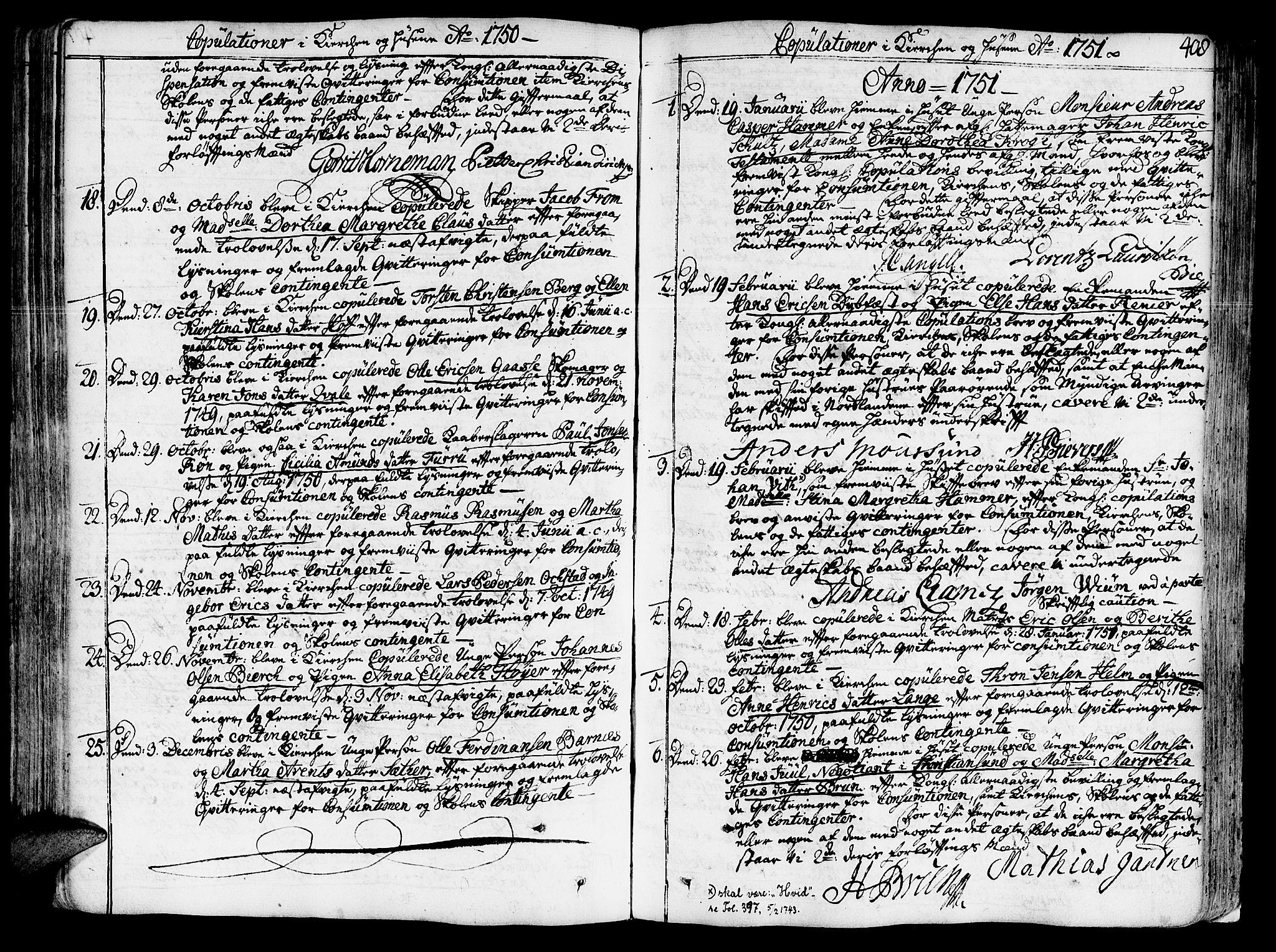 SAT, Ministerialprotokoller, klokkerbøker og fødselsregistre - Sør-Trøndelag, 602/L0103: Ministerialbok nr. 602A01, 1732-1774, s. 408