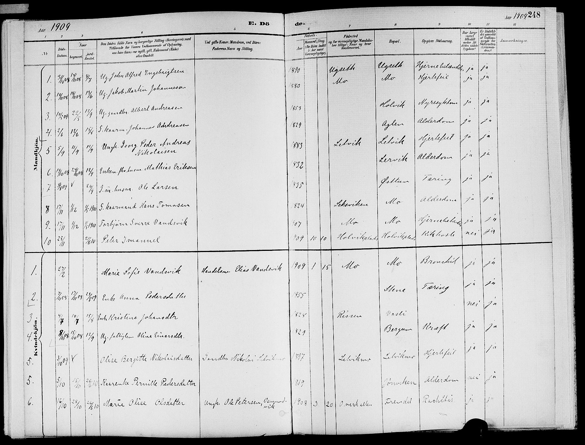 SAT, Ministerialprotokoller, klokkerbøker og fødselsregistre - Nord-Trøndelag, 773/L0617: Ministerialbok nr. 773A08, 1887-1910, s. 248