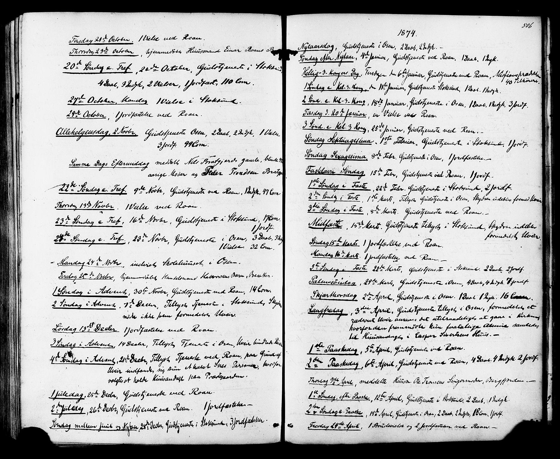 SAT, Ministerialprotokoller, klokkerbøker og fødselsregistre - Sør-Trøndelag, 657/L0706: Ministerialbok nr. 657A07, 1867-1878, s. 506