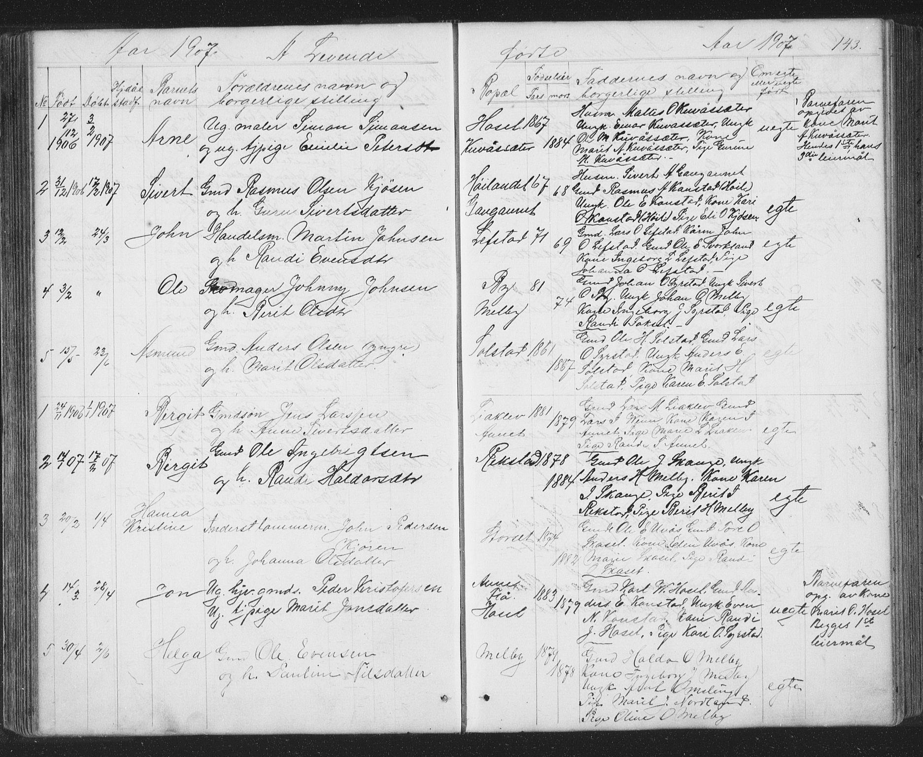 SAT, Ministerialprotokoller, klokkerbøker og fødselsregistre - Sør-Trøndelag, 667/L0798: Klokkerbok nr. 667C03, 1867-1929, s. 143
