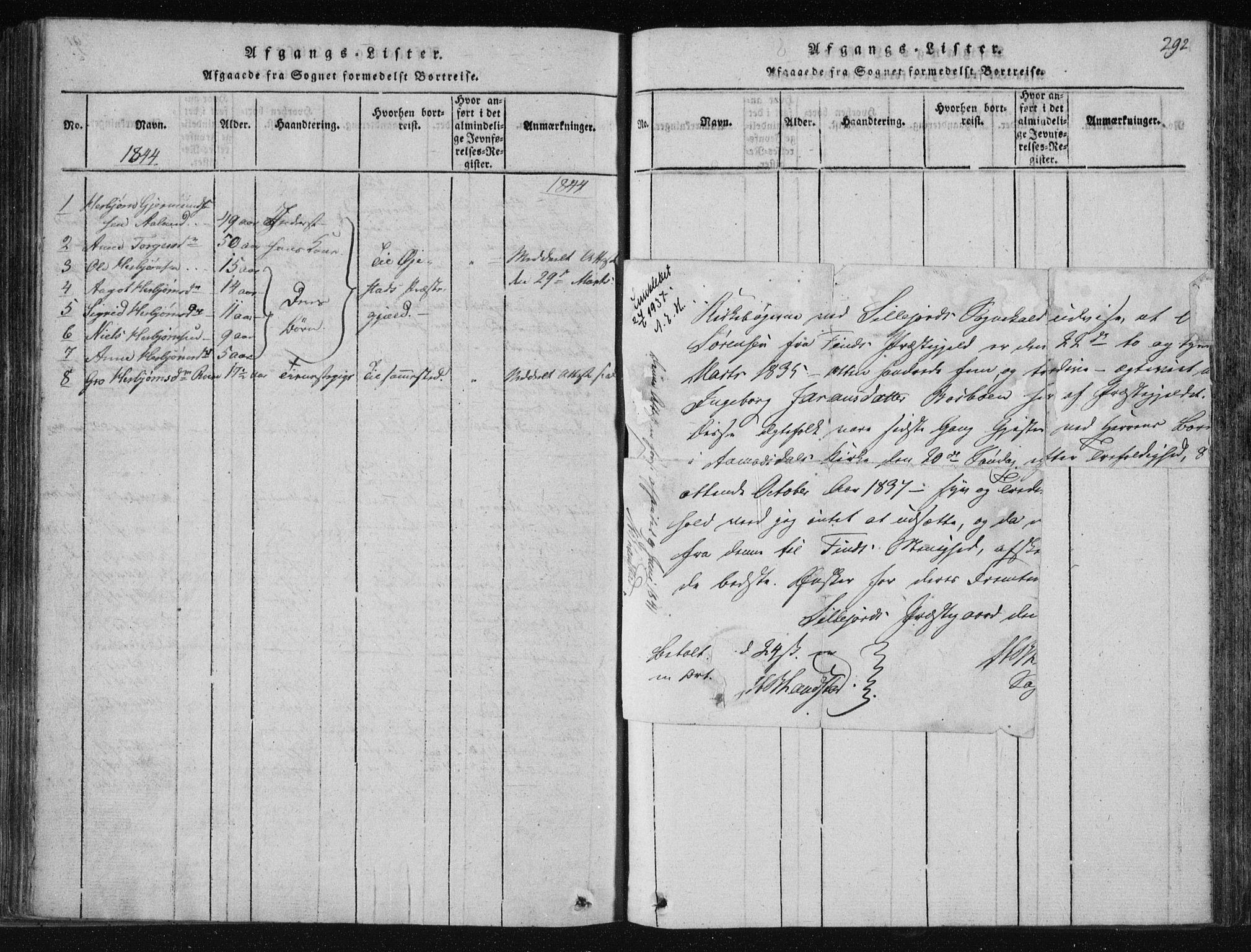 SAKO, Tinn kirkebøker, F/Fc/L0001: Ministerialbok nr. III 1, 1815-1843, s. 292