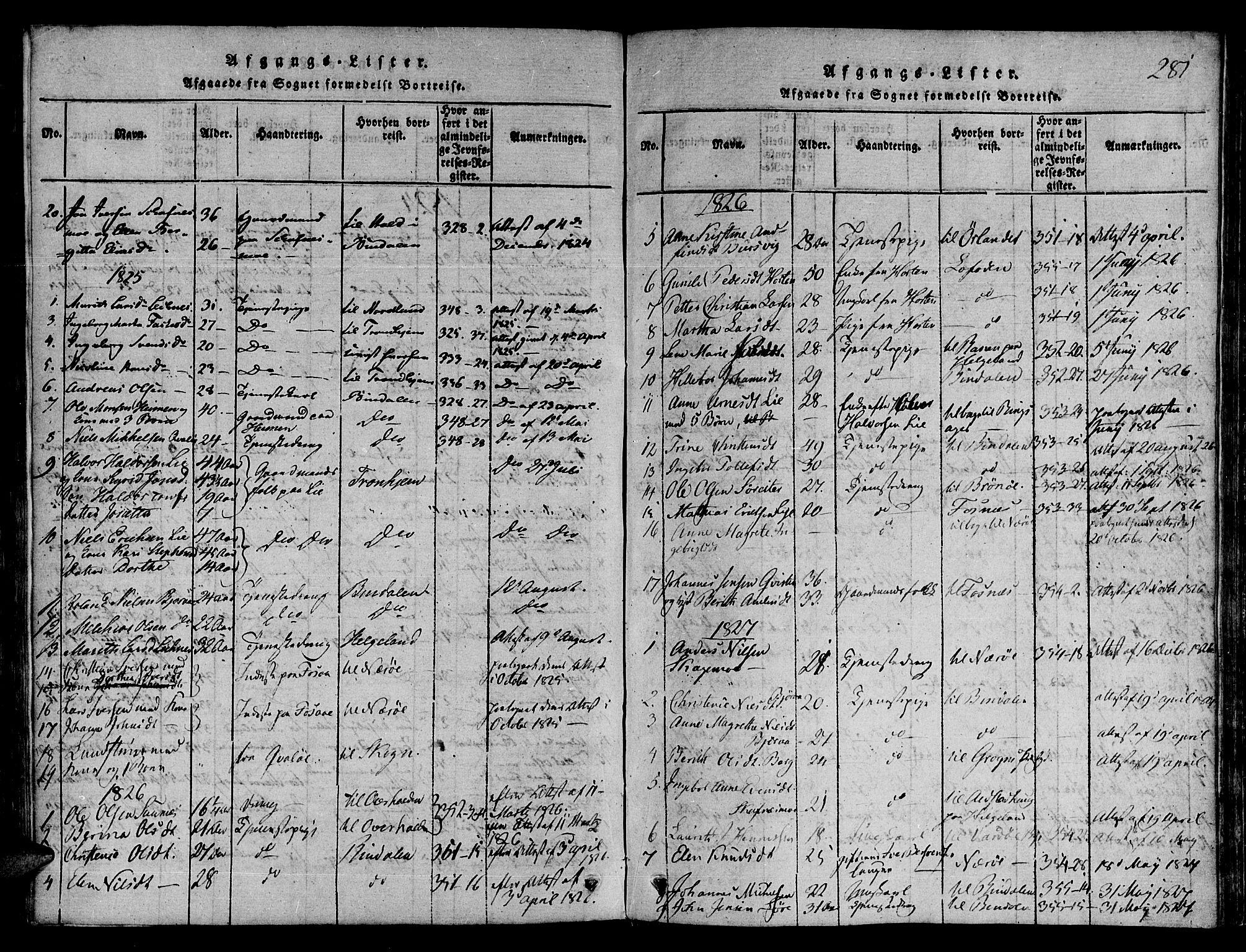 SAT, Ministerialprotokoller, klokkerbøker og fødselsregistre - Nord-Trøndelag, 780/L0636: Ministerialbok nr. 780A03 /1, 1815-1830, s. 281
