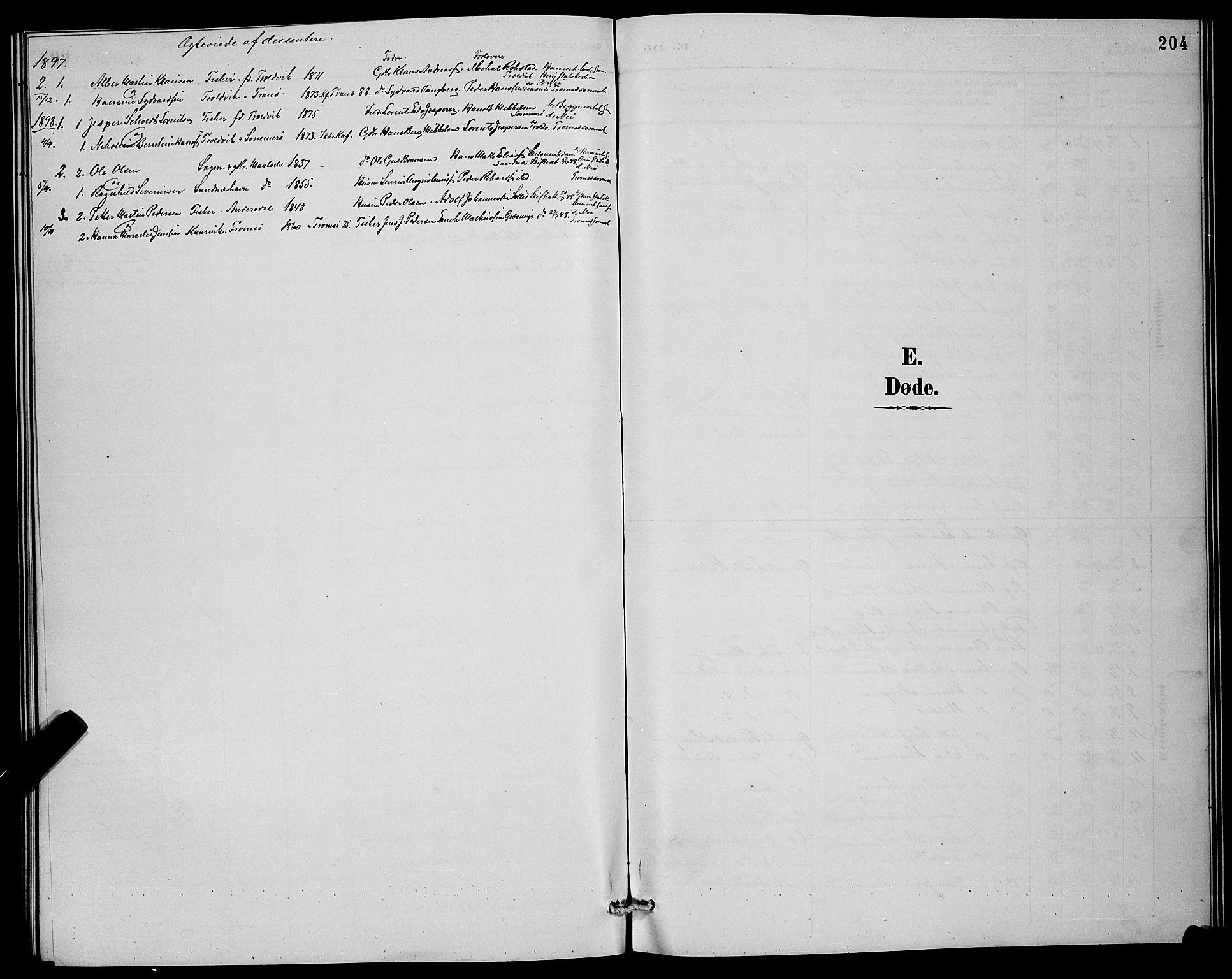 SATØ, Lenvik sokneprestembete, H/Ha: Klokkerbok nr. 7, 1890-1898, s. 204