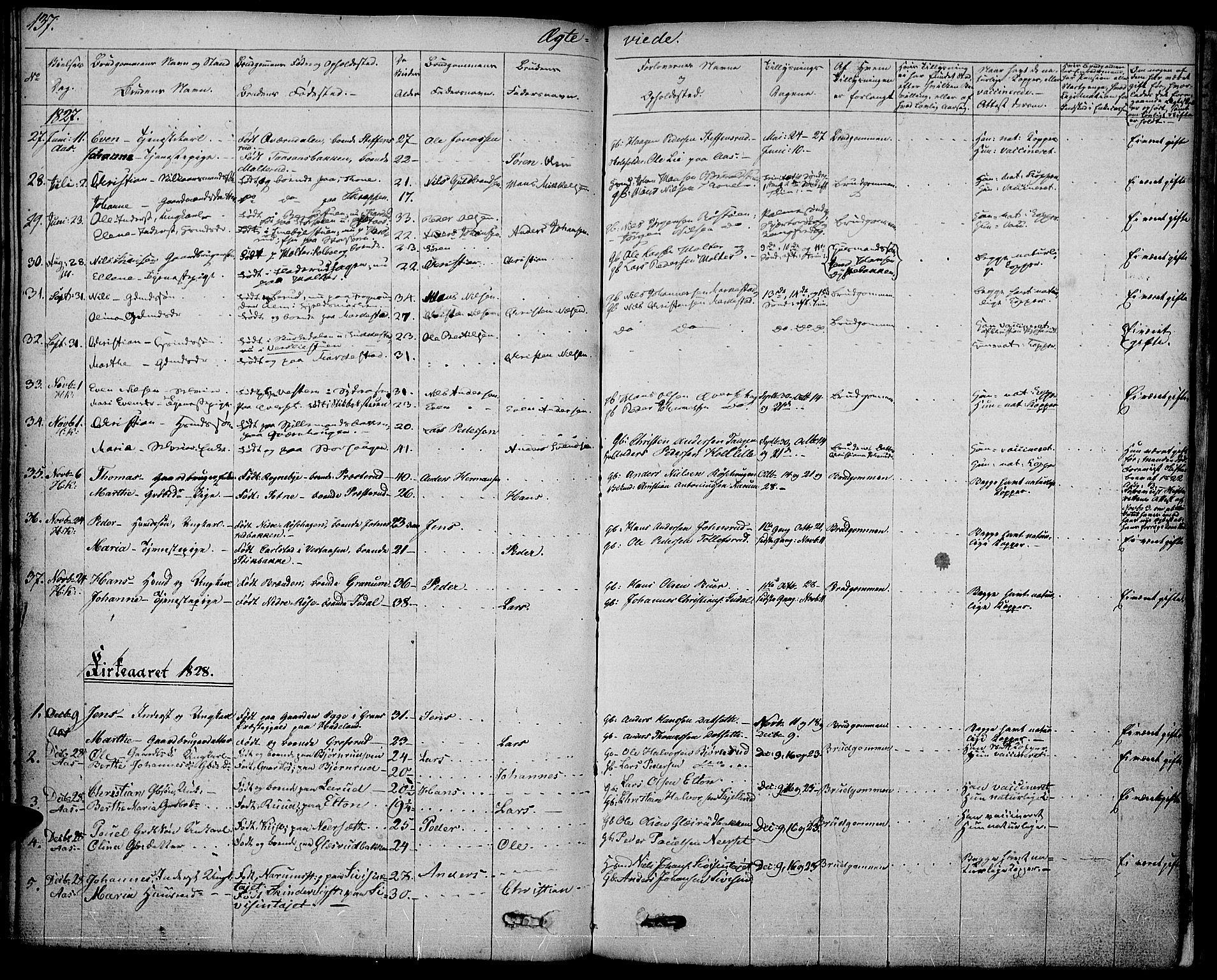 SAH, Vestre Toten prestekontor, Ministerialbok nr. 2, 1825-1837, s. 137