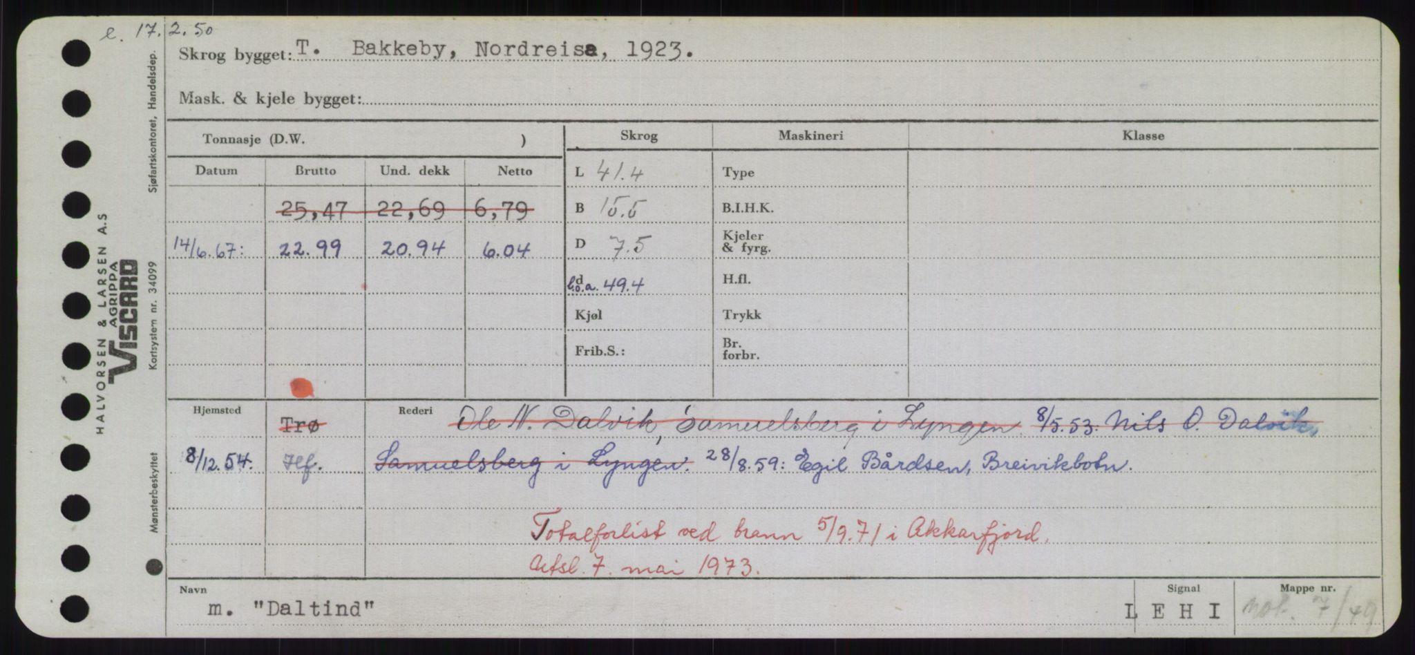RA, Sjøfartsdirektoratet med forløpere, Skipsmålingen, H/Hd/L0008: Fartøy, C-D, s. 381