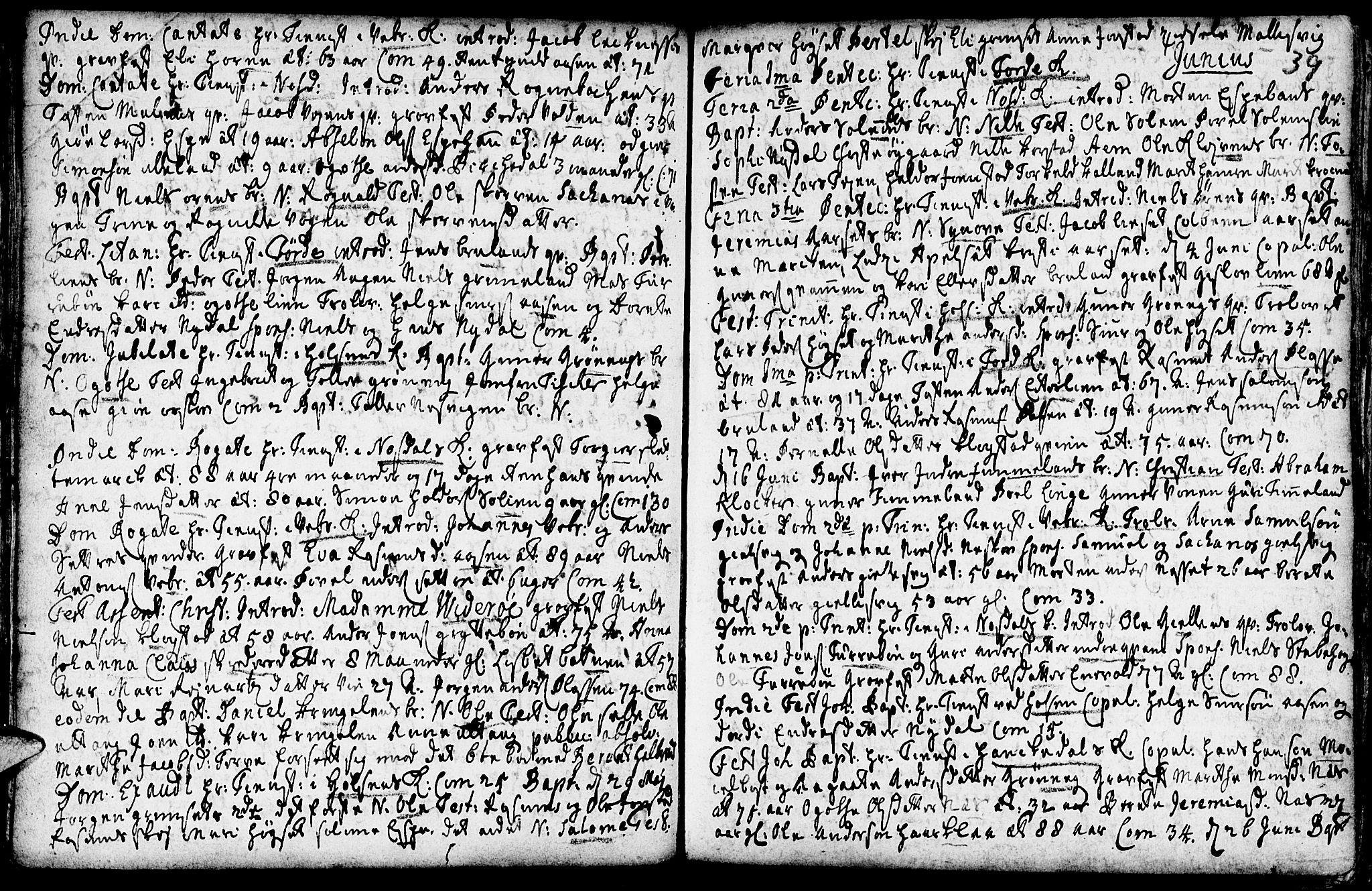 SAB, Førde sokneprestembete, H/Haa: Ministerialbok nr. A 2, 1728-1748, s. 39