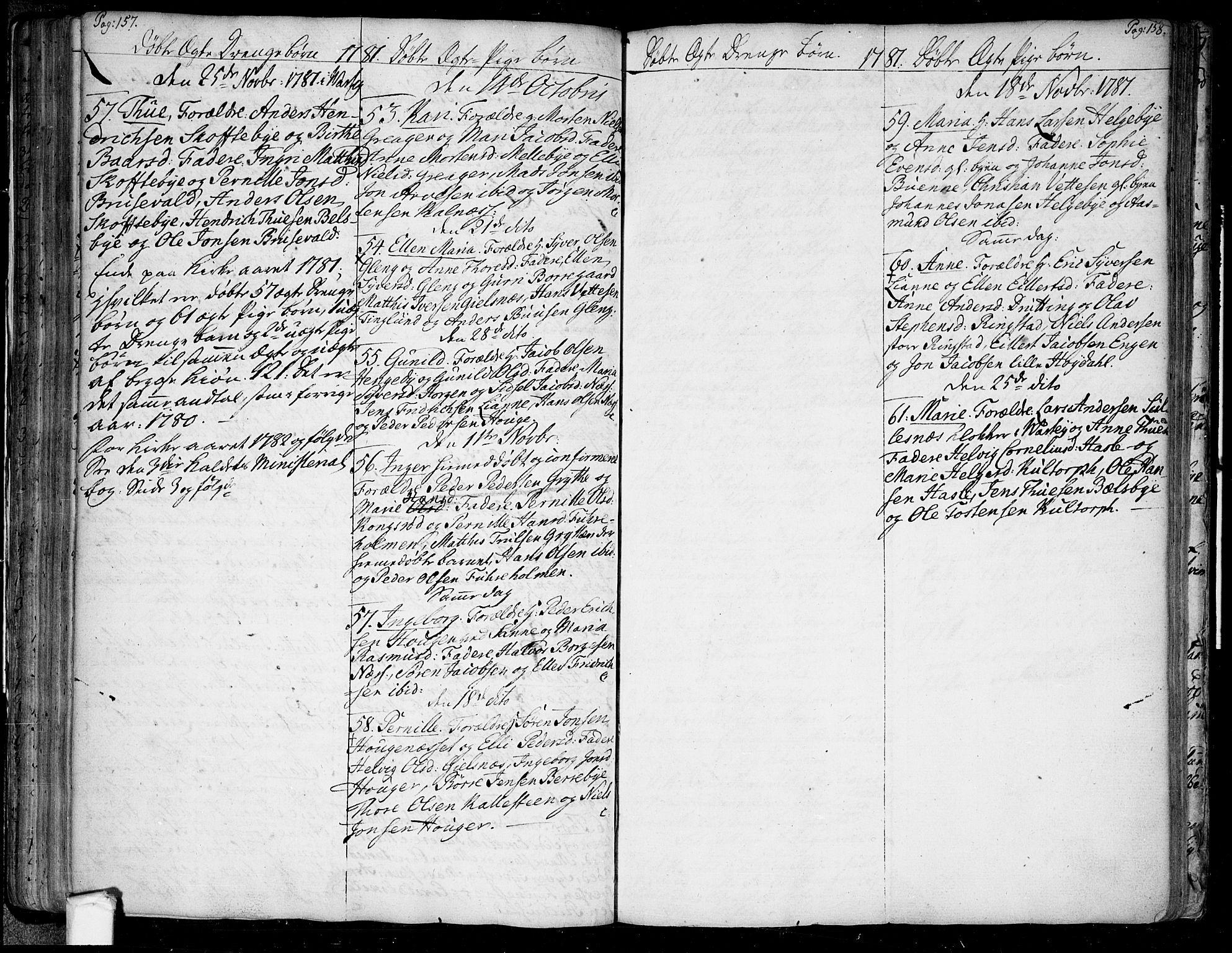SAO, Tune prestekontor Kirkebøker, F/Fa/L0002: Ministerialbok nr. 2, 1758-1781, s. 157-158