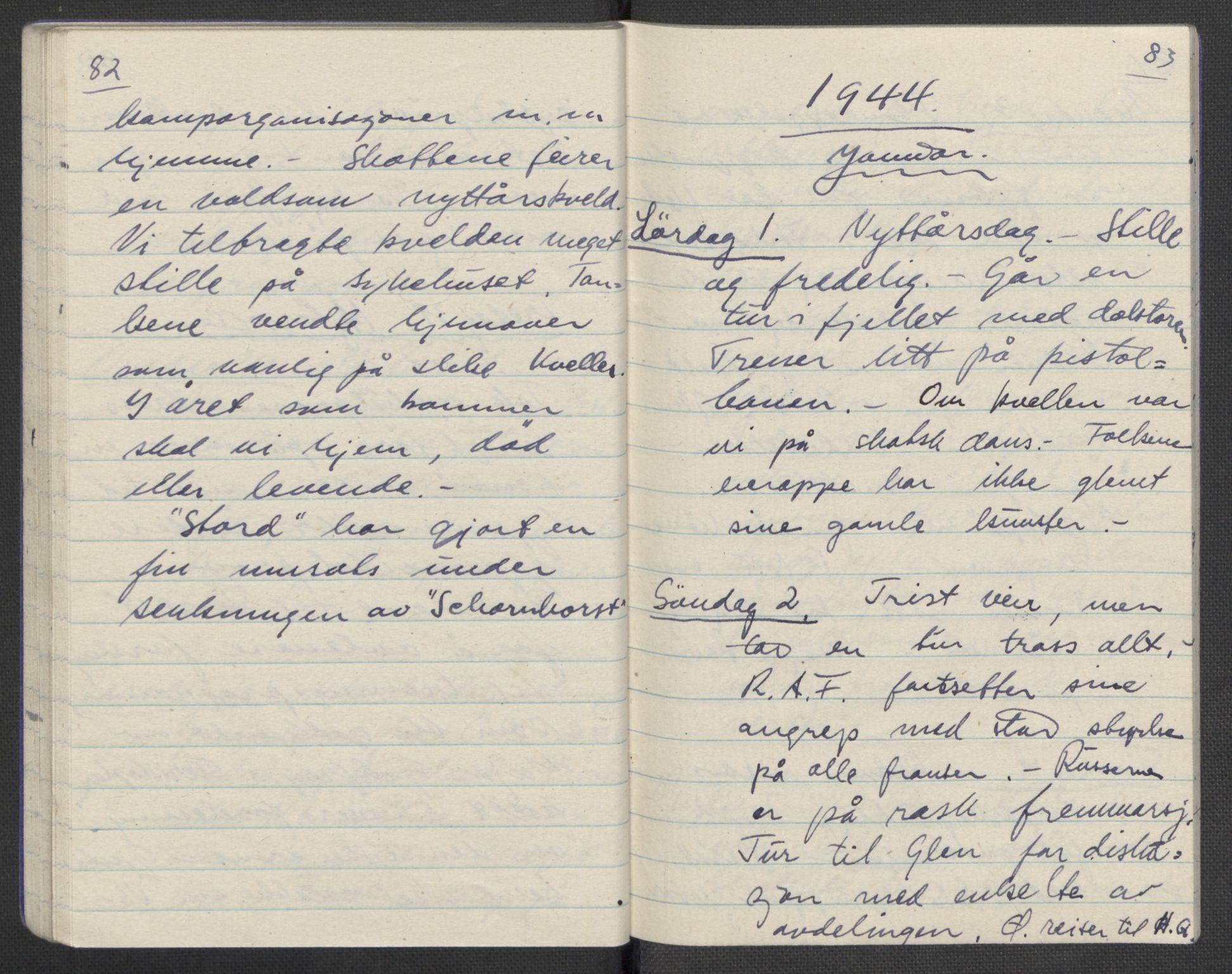 RA, Tronstad, Leif, F/L0001: Dagbøker, 1941-1945, s. 601