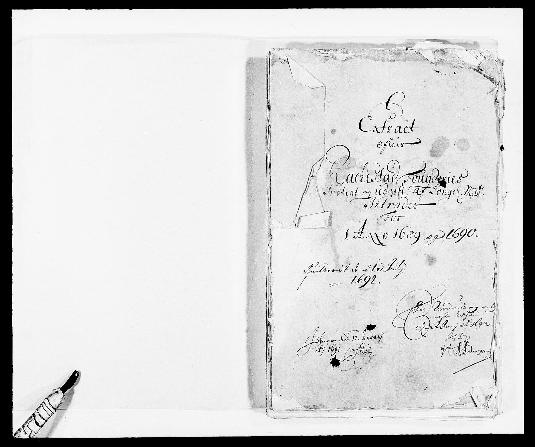 RA, Rentekammeret inntil 1814, Reviderte regnskaper, Fogderegnskap, R05/L0277: Fogderegnskap Rakkestad, 1689-1690, s. 304