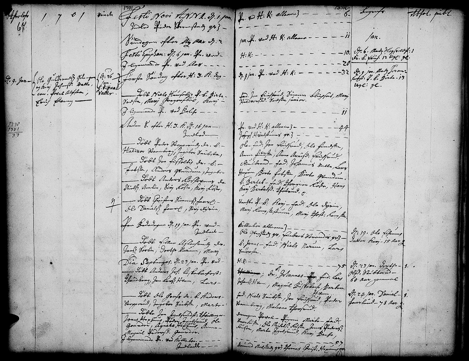 SAH, Toten prestekontor, Ministerialbok nr. 1, 1695-1713, s. 67