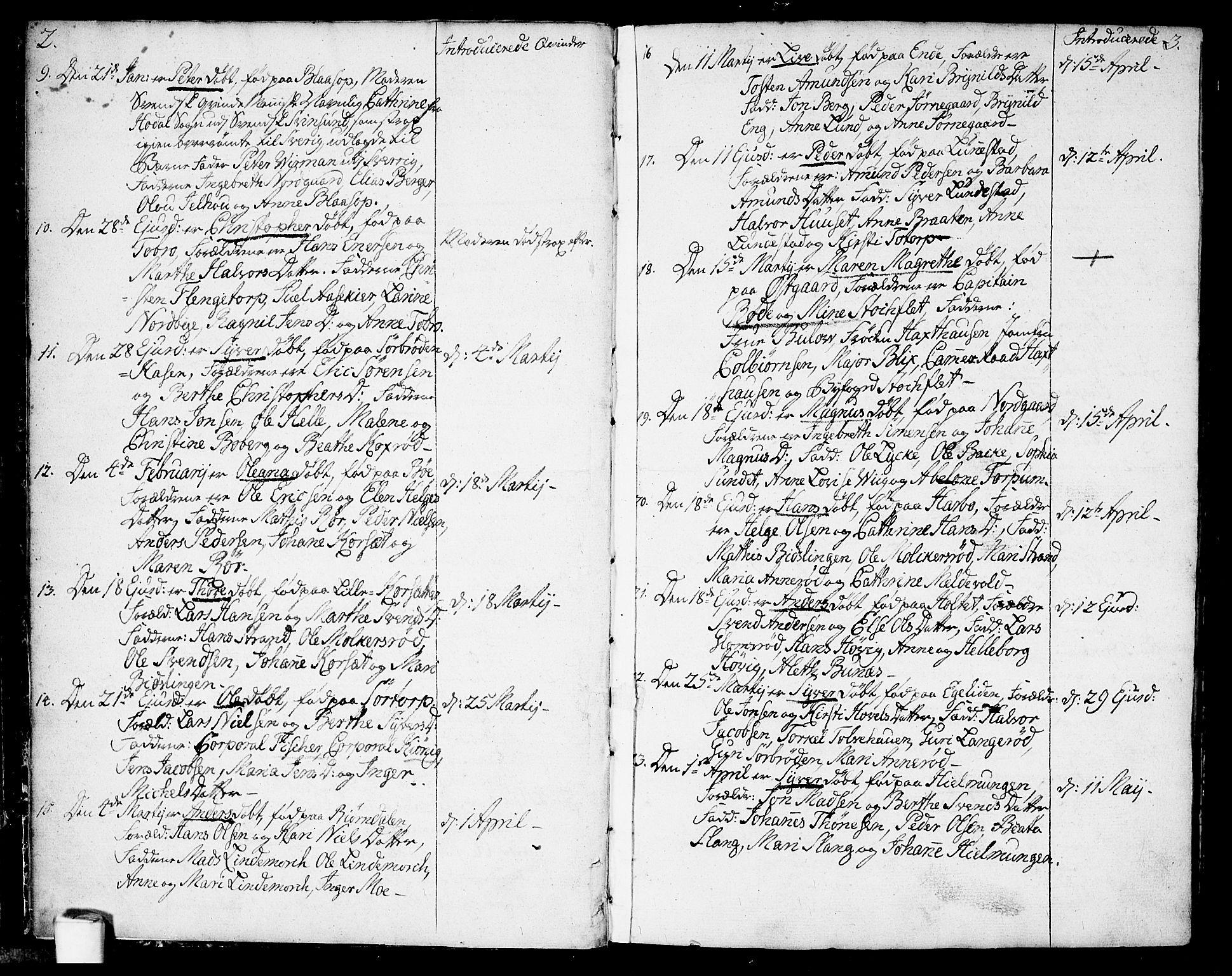 SAO, Berg prestekontor Kirkebøker, F/Fa/L0001: Ministerialbok nr. I 1, 1770-1814, s. 2-3