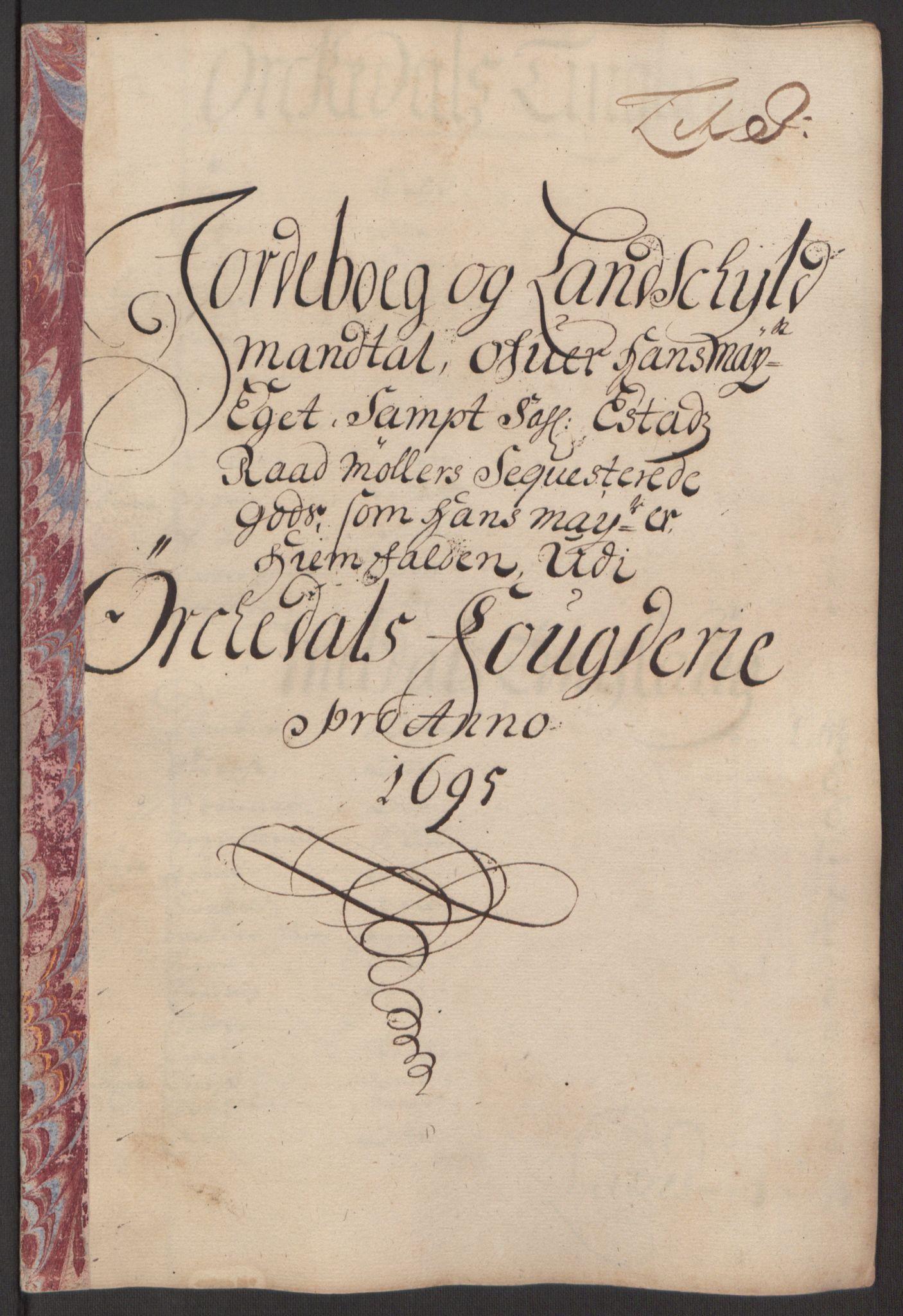RA, Rentekammeret inntil 1814, Reviderte regnskaper, Fogderegnskap, R60/L3945: Fogderegnskap Orkdal og Gauldal, 1695, s. 167