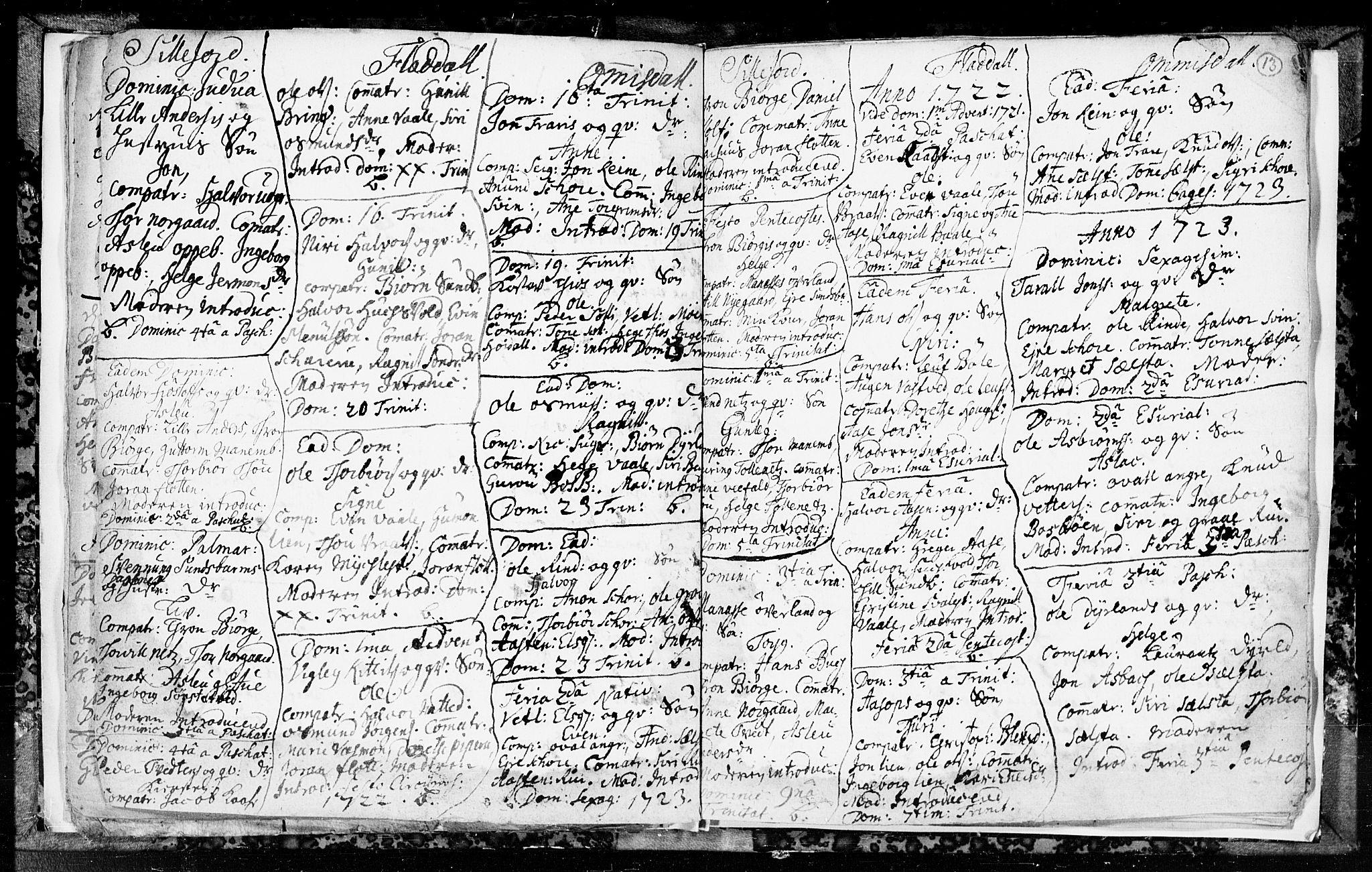 SAKO, Seljord kirkebøker, F/Fa/L0003: Ministerialbok nr. I 3, 1714-1725, s. 13