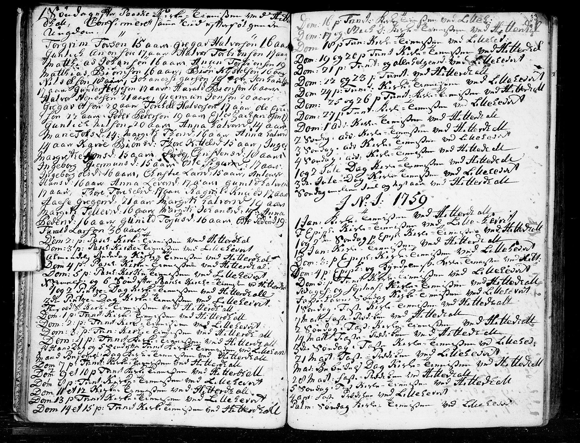 SAKO, Heddal kirkebøker, F/Fa/L0003: Ministerialbok nr. I 3, 1723-1783, s. 33