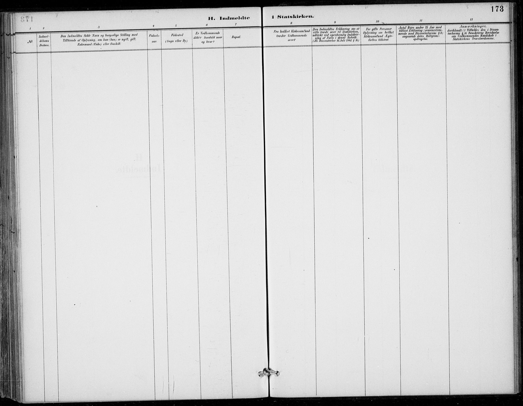 SAB, Strandebarm sokneprestembete, H/Haa: Ministerialbok nr. D  1, 1886-1912, s. 173