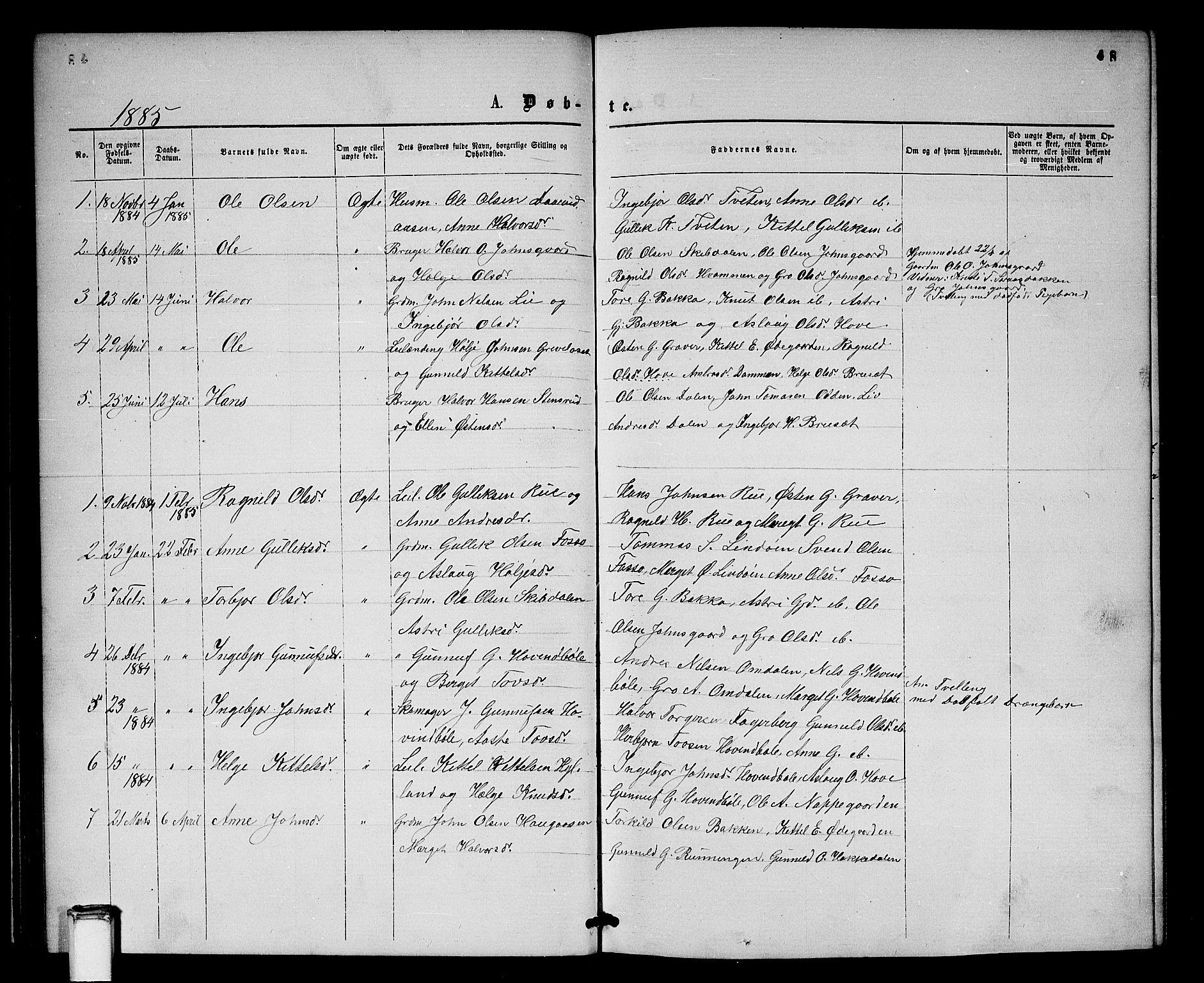 SAKO, Gransherad kirkebøker, G/Gb/L0002: Klokkerbok nr. II 2, 1860-1886, s. 48