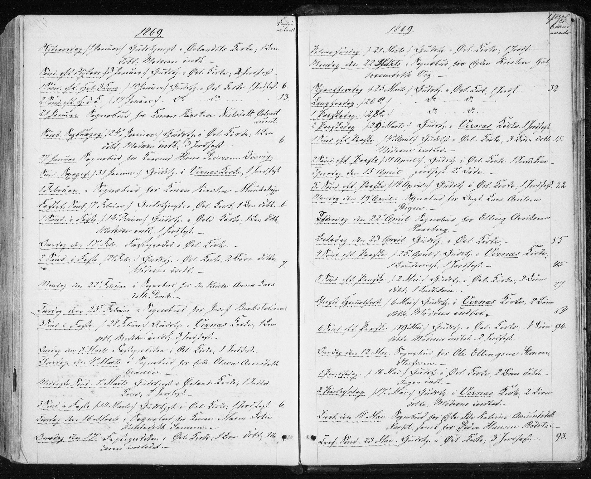 SAT, Ministerialprotokoller, klokkerbøker og fødselsregistre - Sør-Trøndelag, 659/L0737: Ministerialbok nr. 659A07, 1857-1875, s. 496