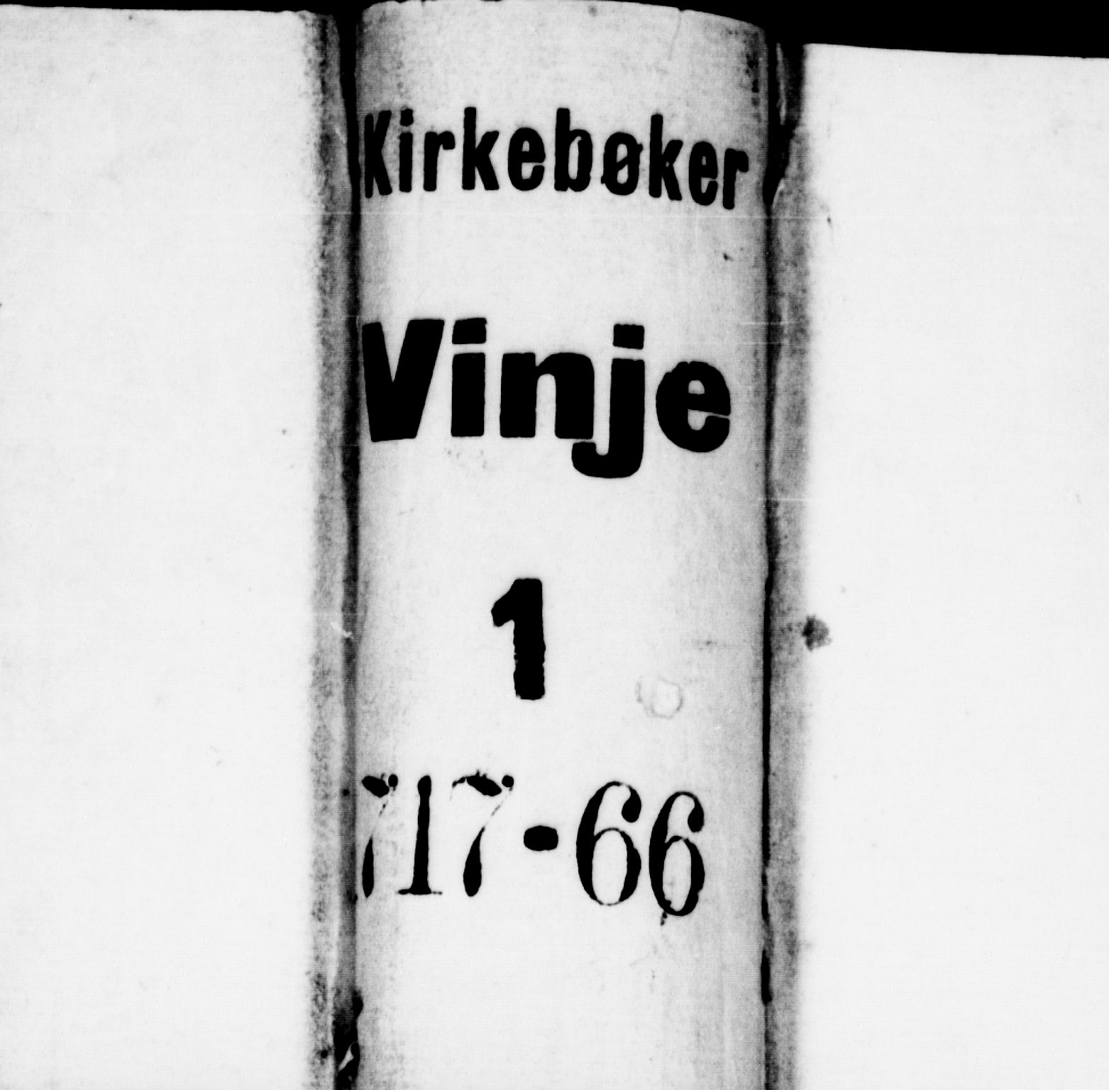 SAKO, Vinje kirkebøker, F/Fa/L0001: Ministerialbok nr. I 1, 1717-1766
