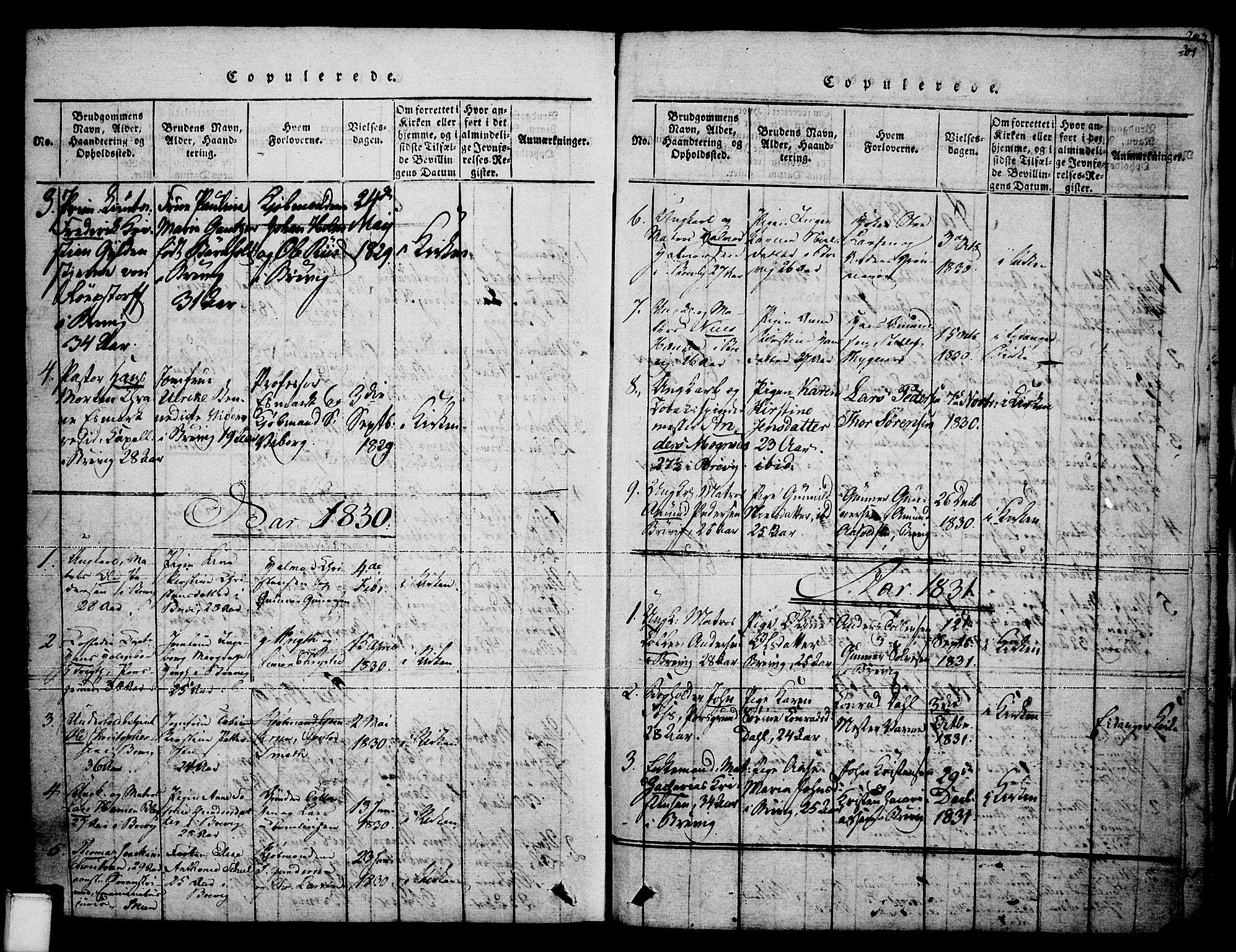SAKO, Brevik kirkebøker, F/Fa/L0004: Ministerialbok nr. 4, 1814-1846, s. 201