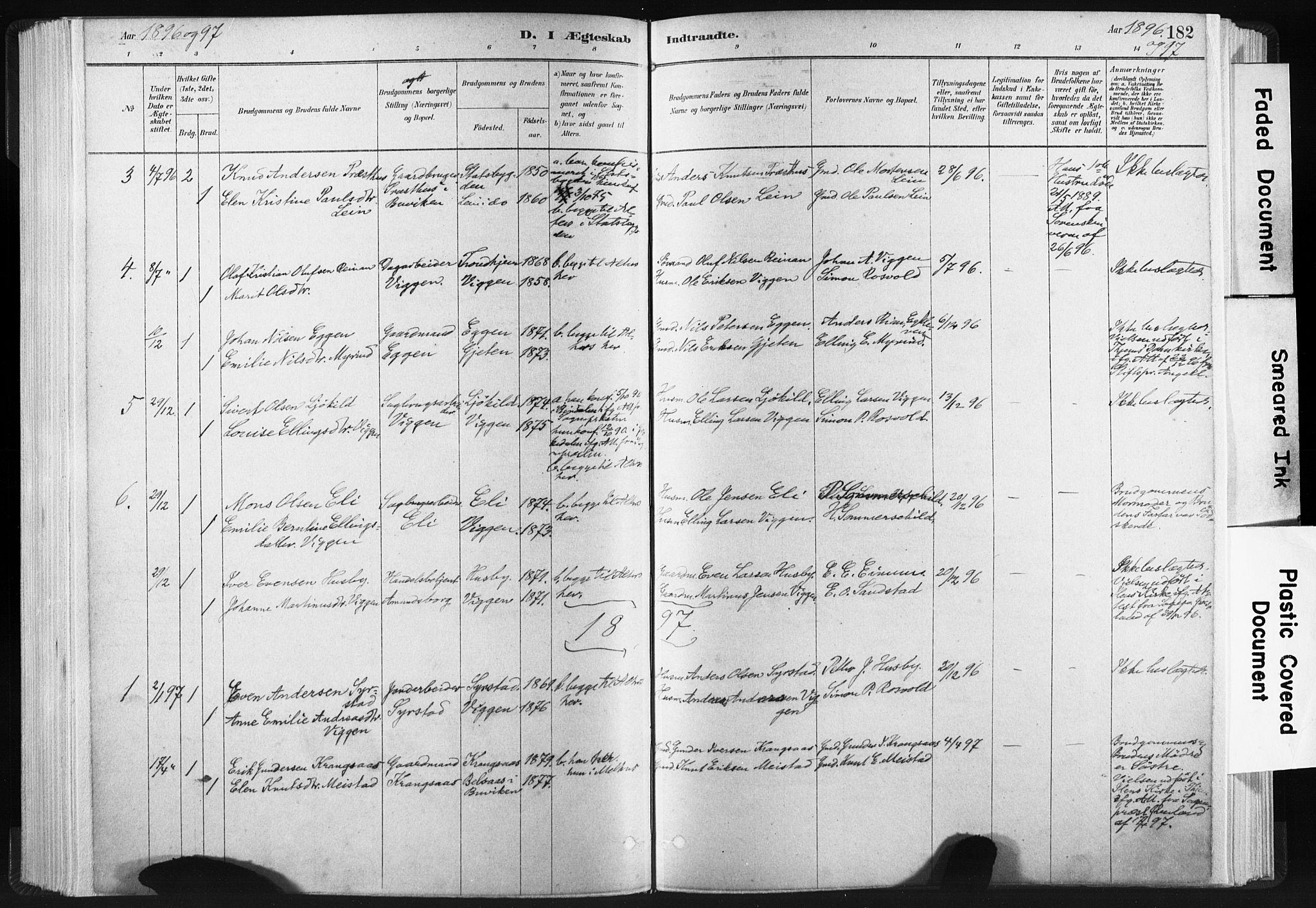 SAT, Ministerialprotokoller, klokkerbøker og fødselsregistre - Sør-Trøndelag, 665/L0773: Ministerialbok nr. 665A08, 1879-1905, s. 182