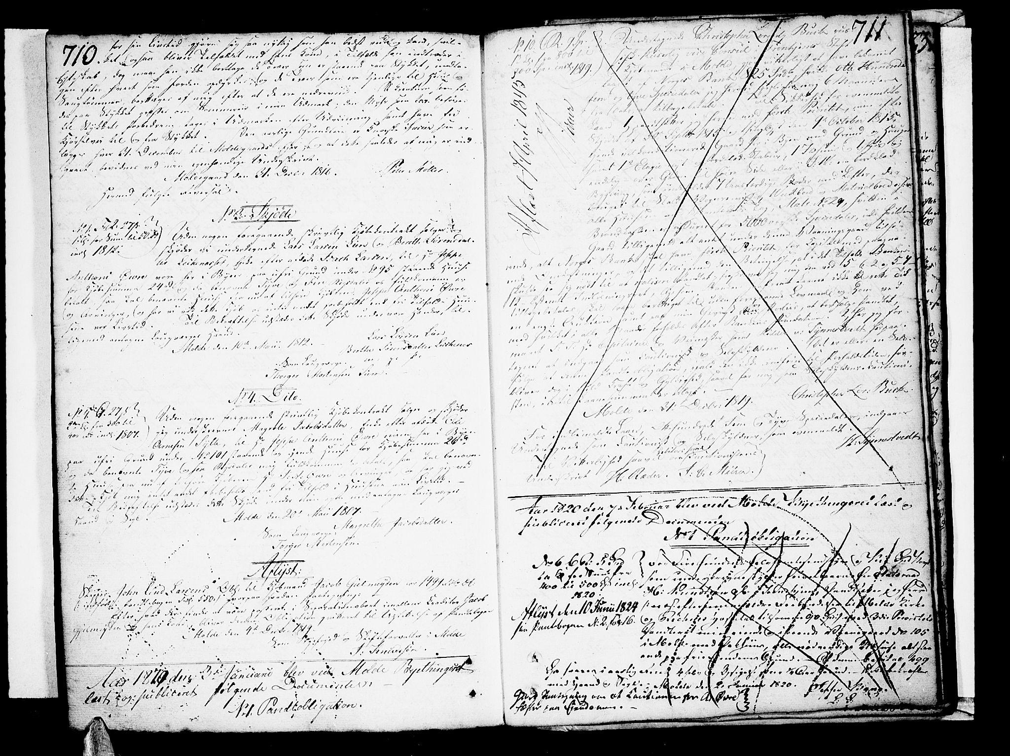 SAT, Molde byfogd, 2/2C/L0001: Pantebok nr. 1, 1748-1823, s. 710-711