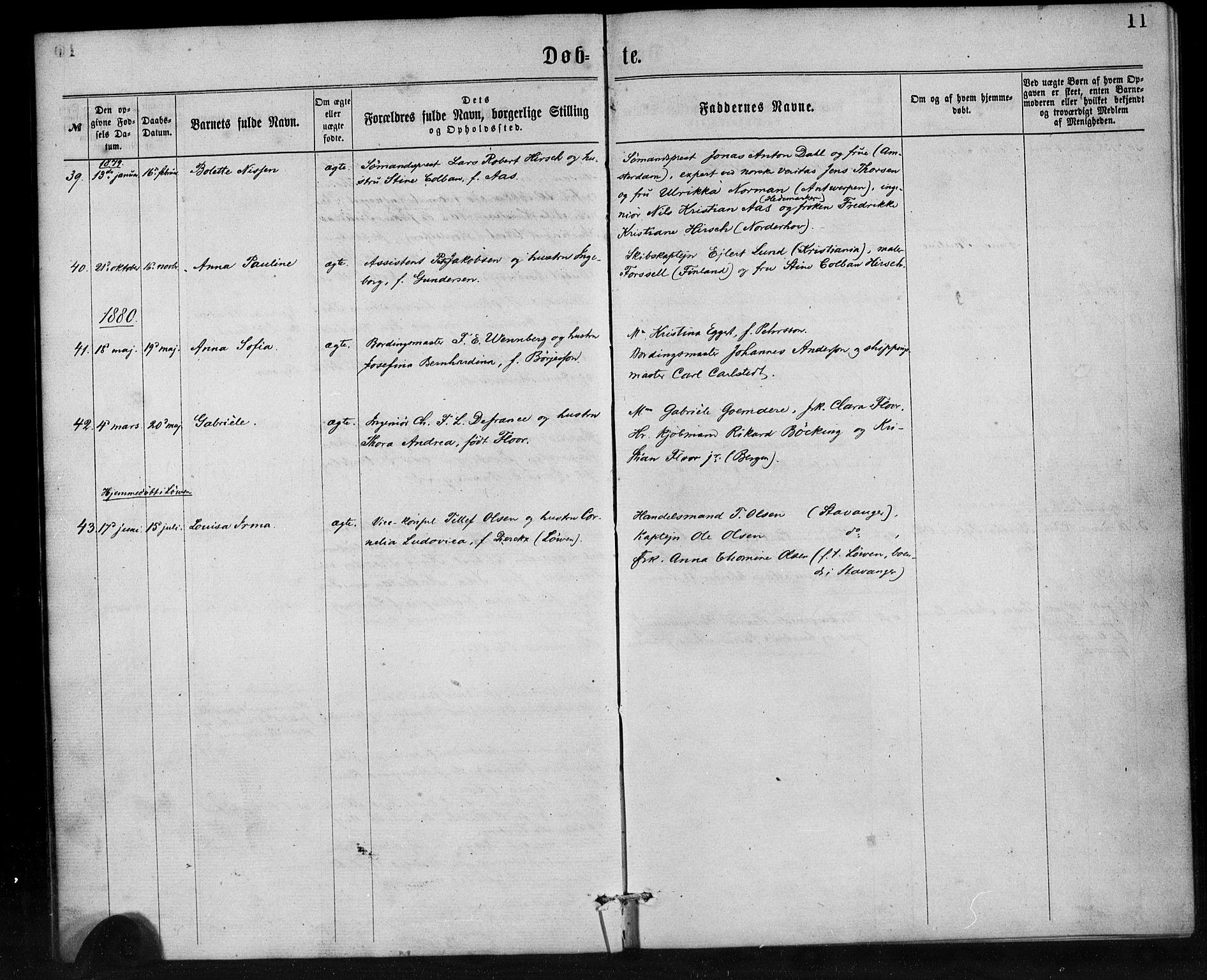 SAB, Den Norske Sjømannsmisjon i utlandet*, Ministerialbok nr. A 1, 1865-1887, s. 11