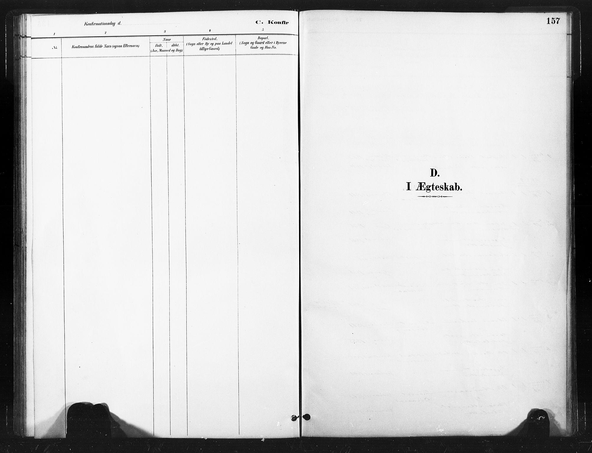 SAT, Ministerialprotokoller, klokkerbøker og fødselsregistre - Nord-Trøndelag, 736/L0361: Ministerialbok nr. 736A01, 1884-1906, s. 157