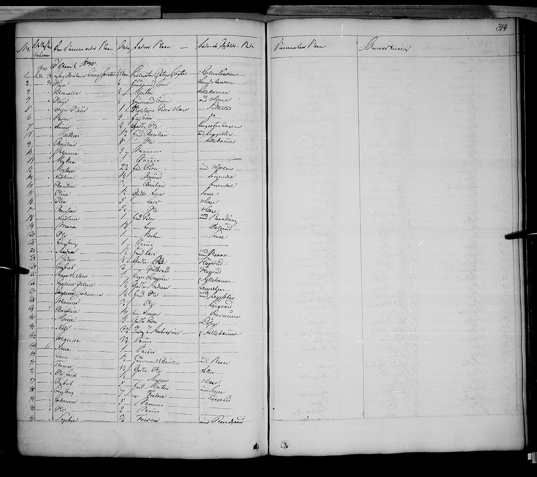 SAH, Fåberg prestekontor, Ministerialbok nr. 5, 1836-1854, s. 813-814