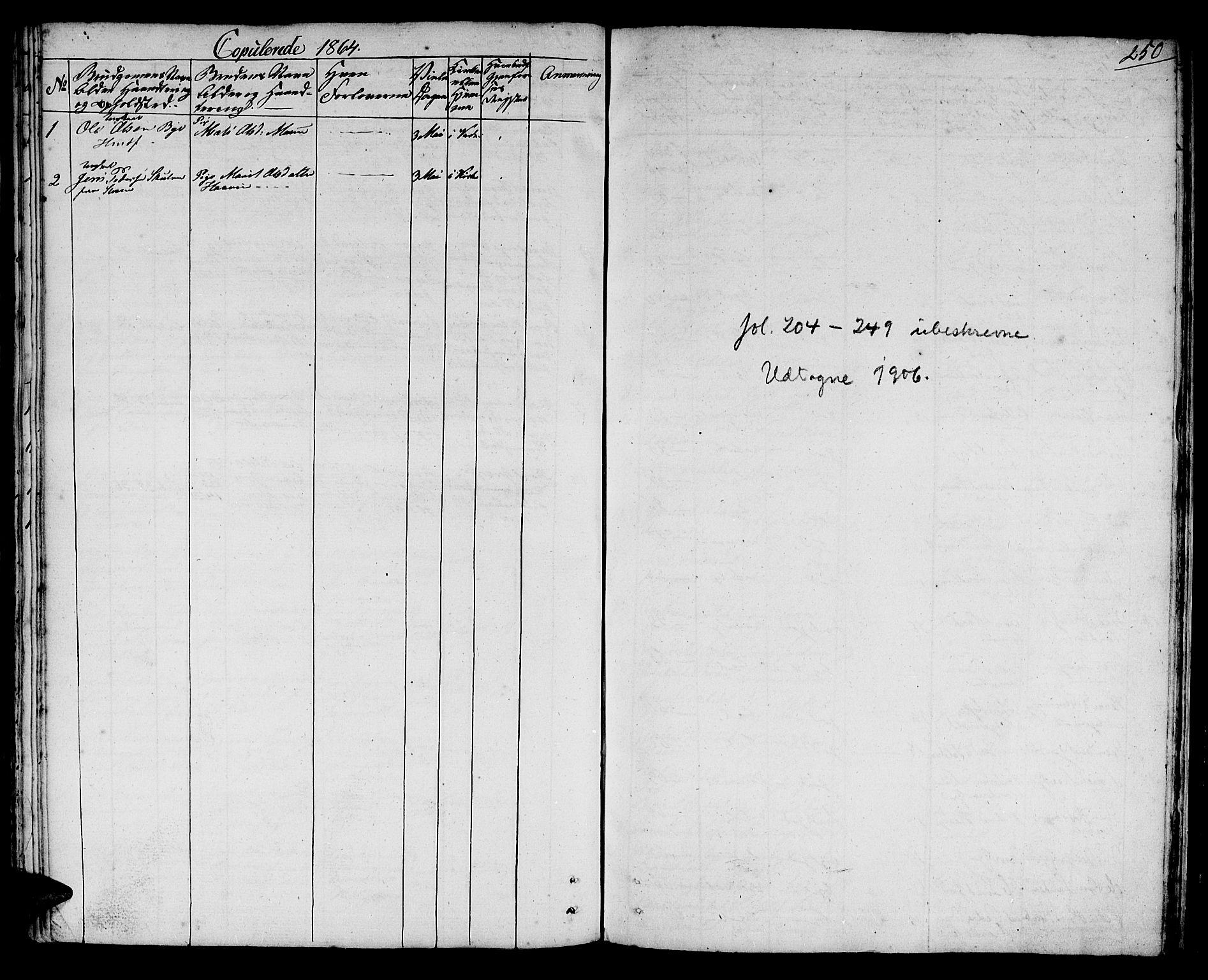SAT, Ministerialprotokoller, klokkerbøker og fødselsregistre - Sør-Trøndelag, 692/L1108: Klokkerbok nr. 692C03, 1816-1833, s. 250