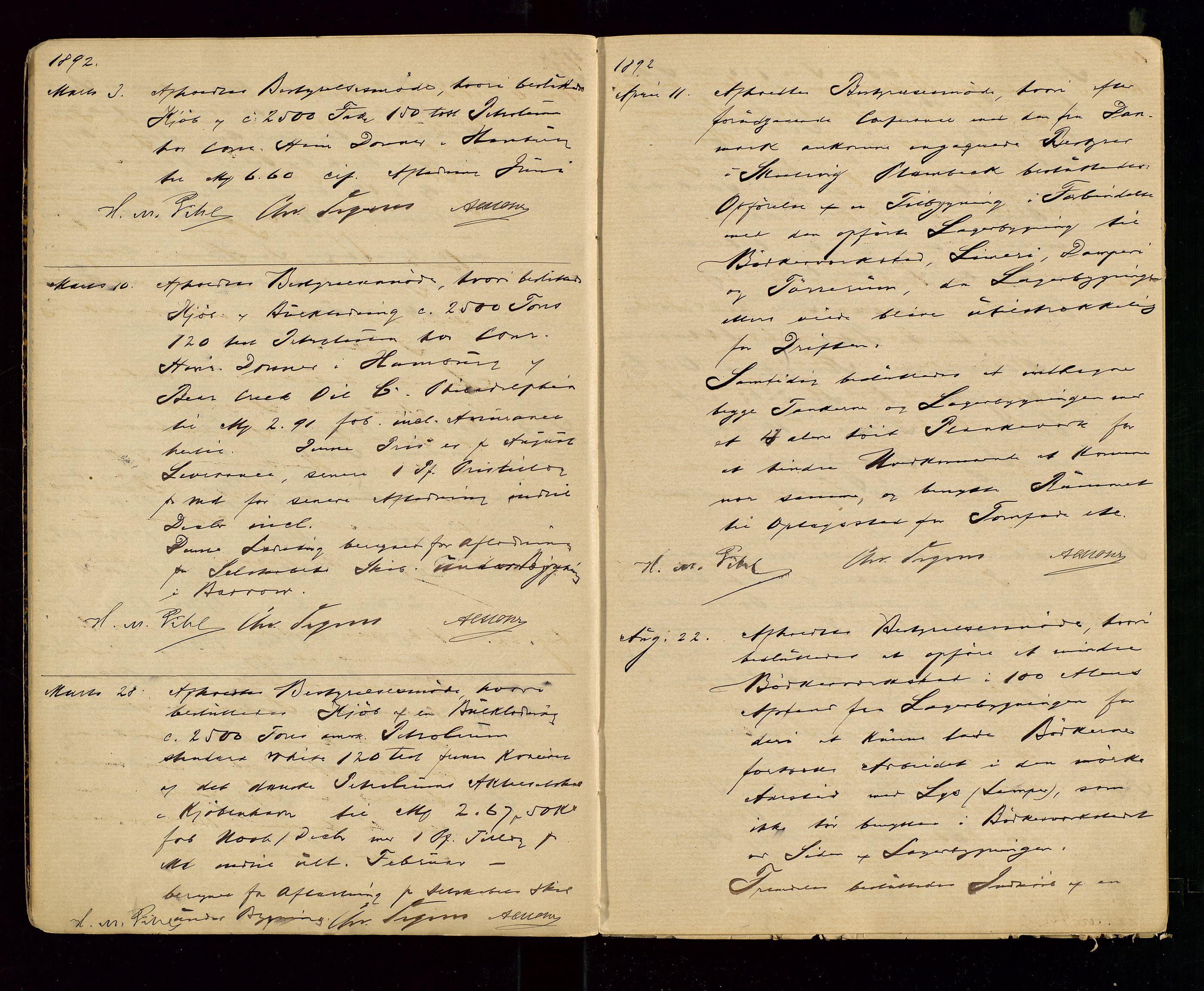 SAST, PA 1533 - A/S Vestlandske Petroleumscompani, A/Aa/L0001: Generalforsamlinger og styreprotokoller, 1890-1907, s. 7