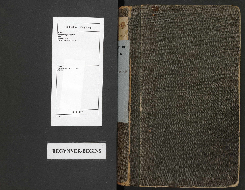 SAKO, Kongsberg magistrat, F/Fd/L0021: Branntakstprotokoll, 1911-1916