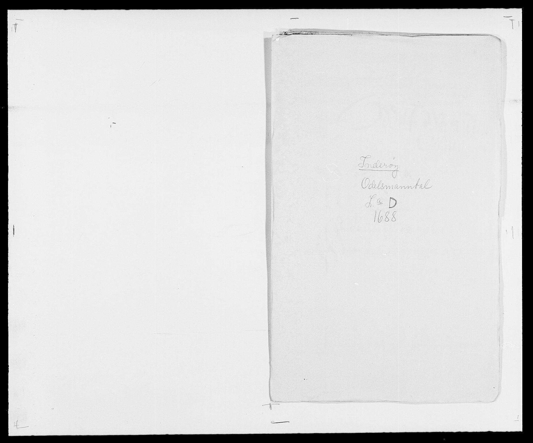 RA, Rentekammeret inntil 1814, Reviderte regnskaper, Fogderegnskap, R63/L4306: Fogderegnskap Inderøy, 1687-1689, s. 254