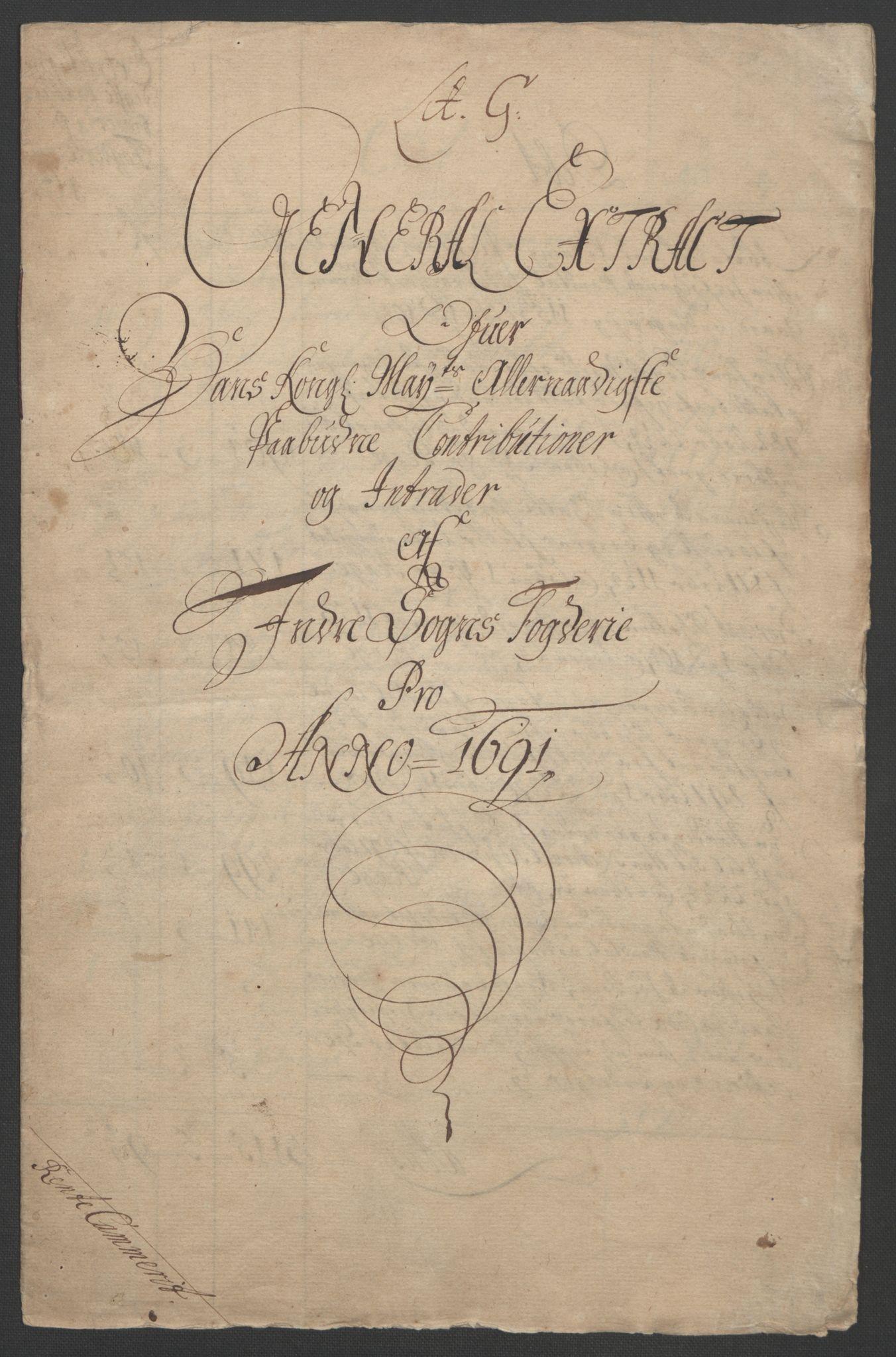RA, Rentekammeret inntil 1814, Reviderte regnskaper, Fogderegnskap, R52/L3306: Fogderegnskap Sogn, 1691-1692, s. 4