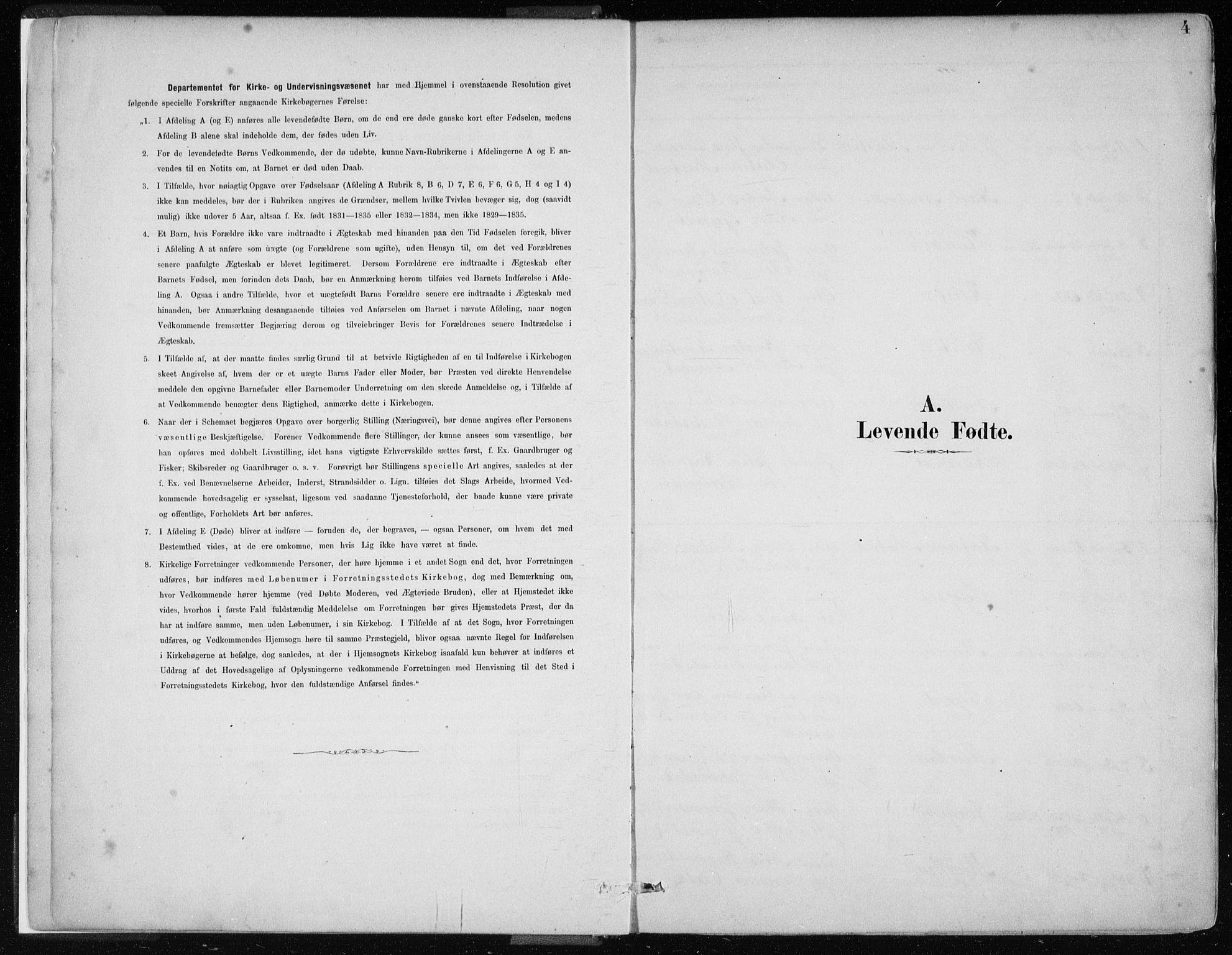 SAB, Masfjorden Sokneprestembete, Ministerialbok nr. B  1, 1876-1899, s. 4