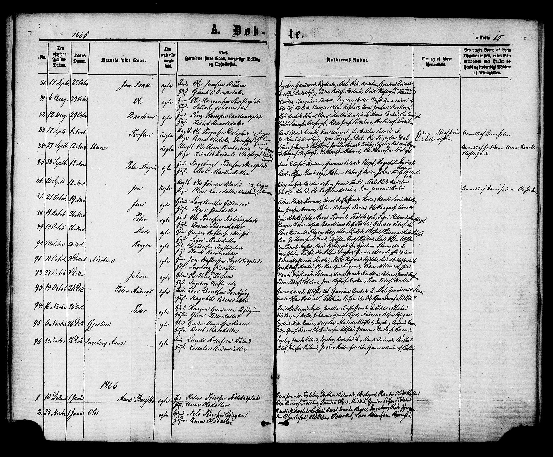 SAT, Ministerialprotokoller, klokkerbøker og fødselsregistre - Nord-Trøndelag, 703/L0029: Ministerialbok nr. 703A02, 1863-1879, s. 15