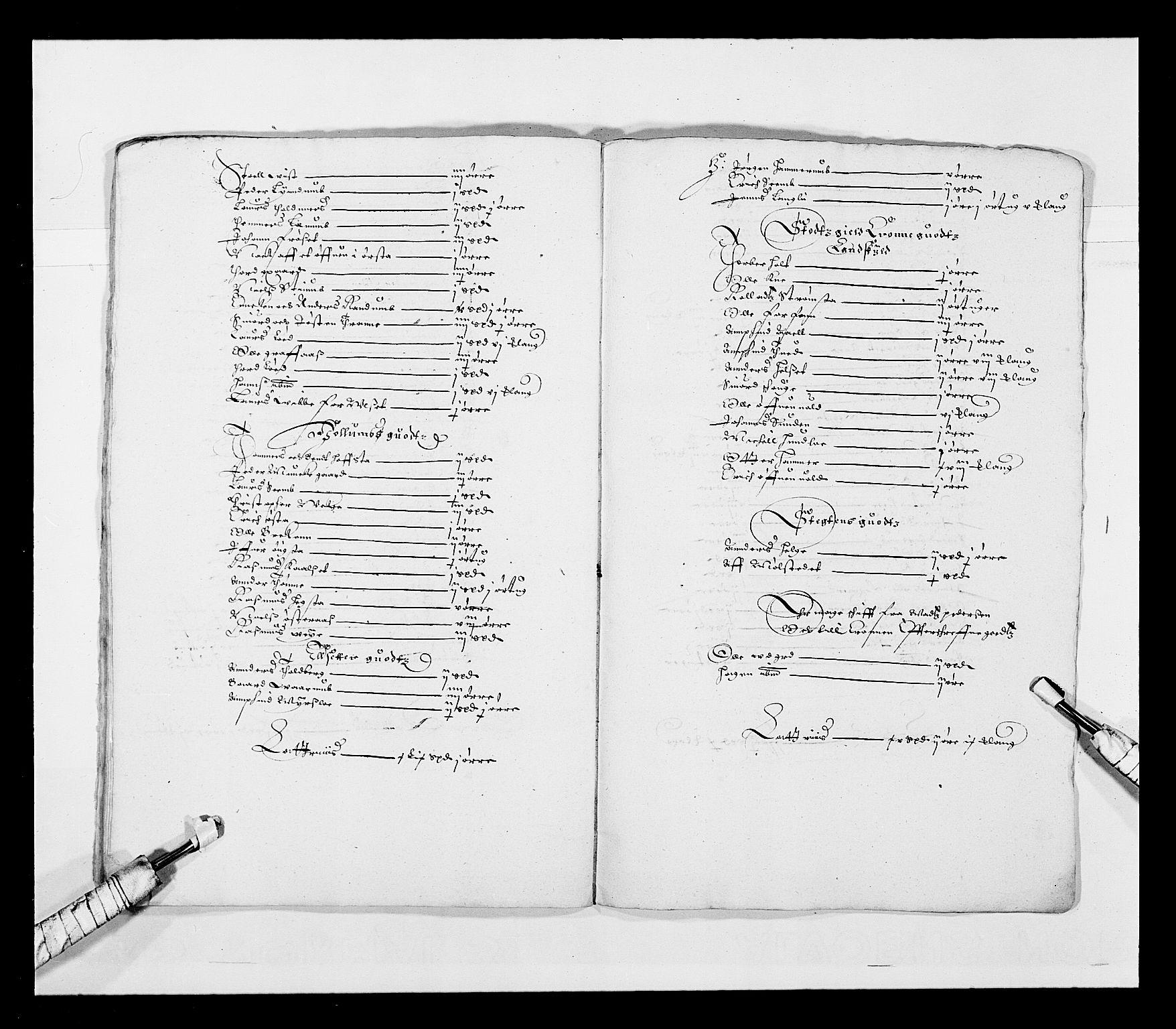RA, Stattholderembetet 1572-1771, Ek/L0028: Jordebøker 1633-1658:, 1645-1646, s. 125