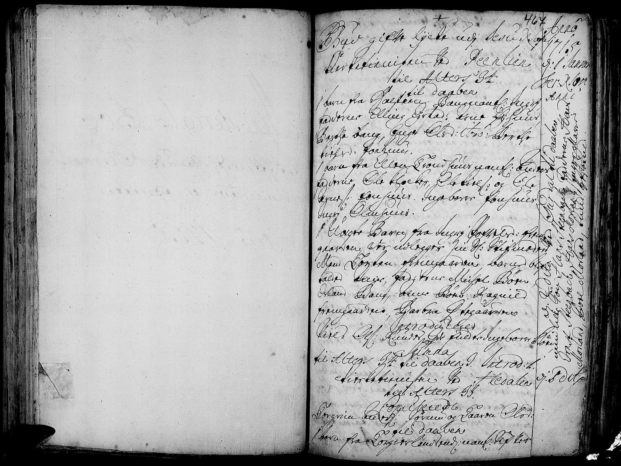 SAH, Aurdal prestekontor, Ministerialbok nr. 1-3, 1692-1730, s. 467