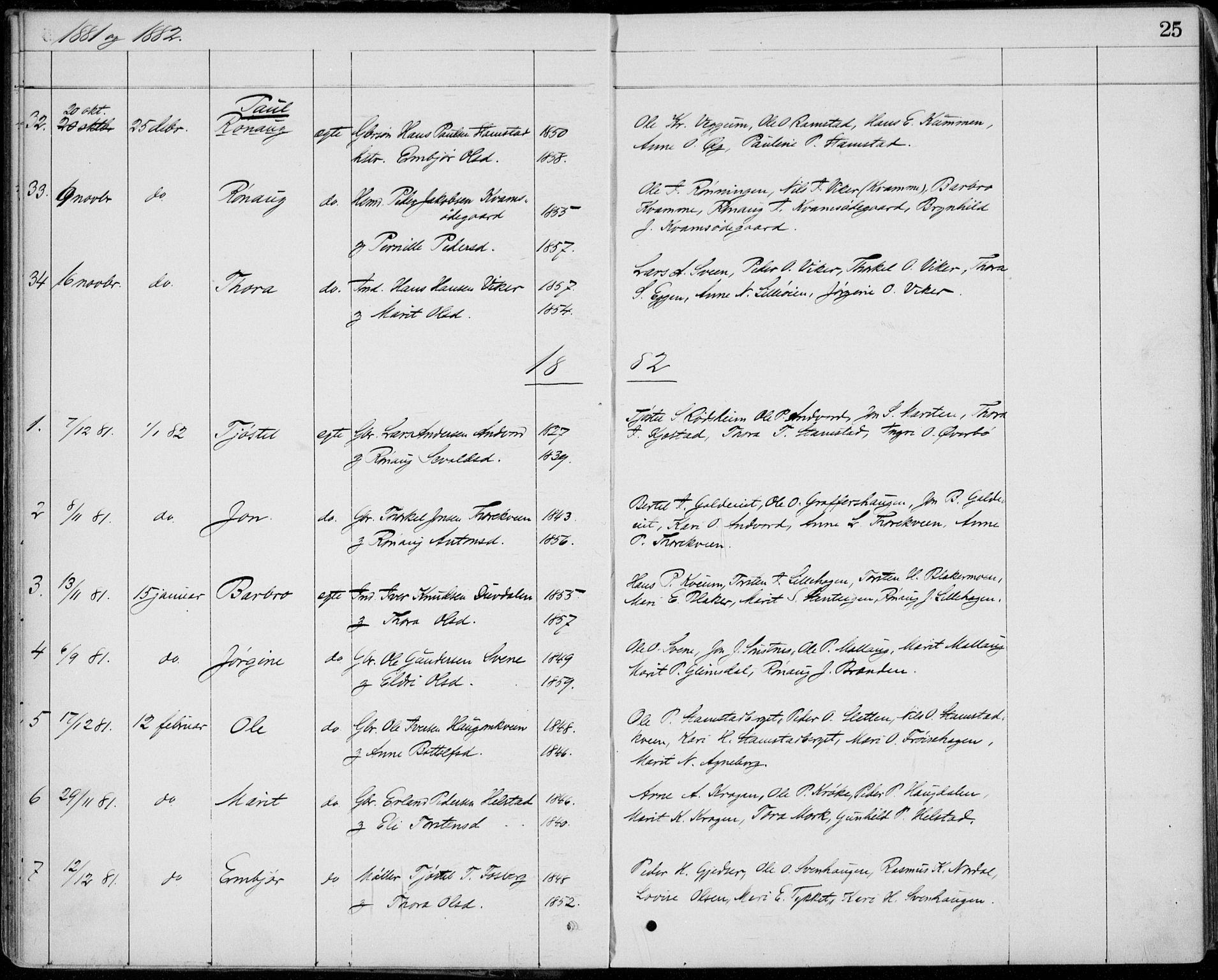 SAH, Lom prestekontor, L/L0013: Klokkerbok nr. 13, 1874-1938, s. 25