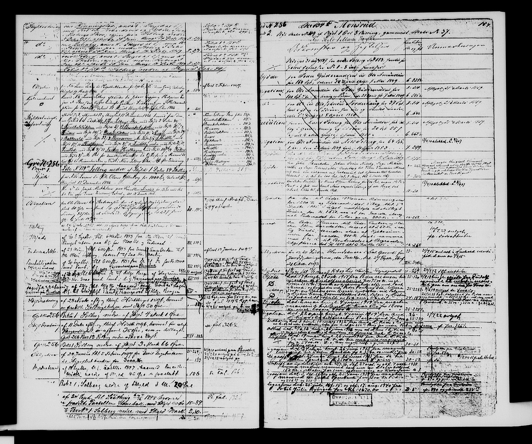 SAH, Sør-Hedmark sorenskriveri, H/Ha/Hac/Hacc/L0001: Panteregister nr. 3.1, 1855-1943, s. 154