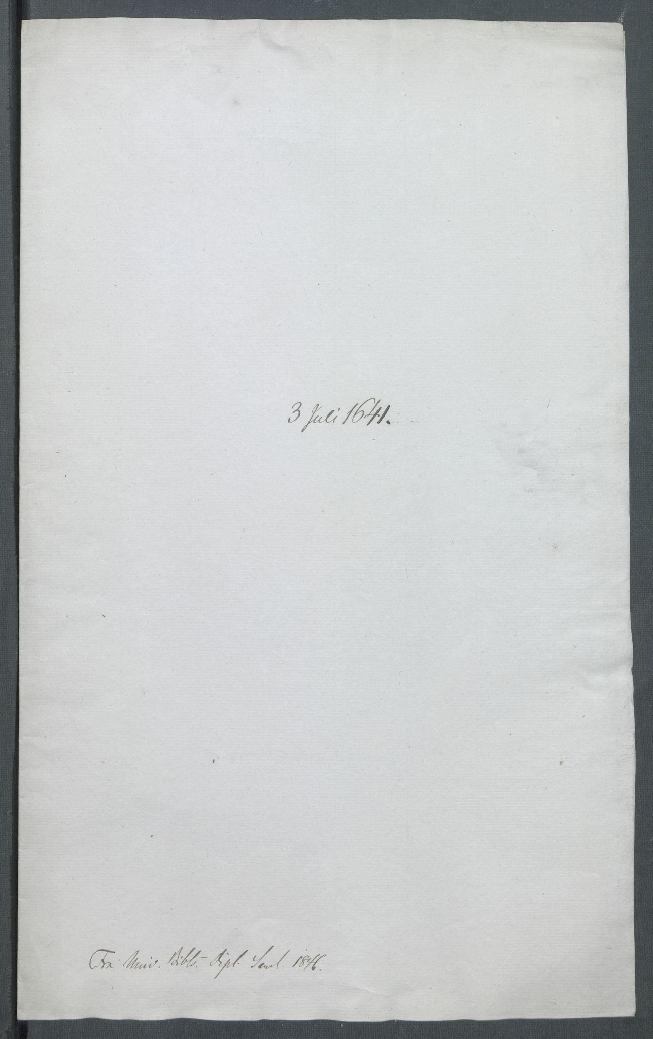 RA, Riksarkivets diplomsamling, F02/L0154: Dokumenter, 1641, s. 30