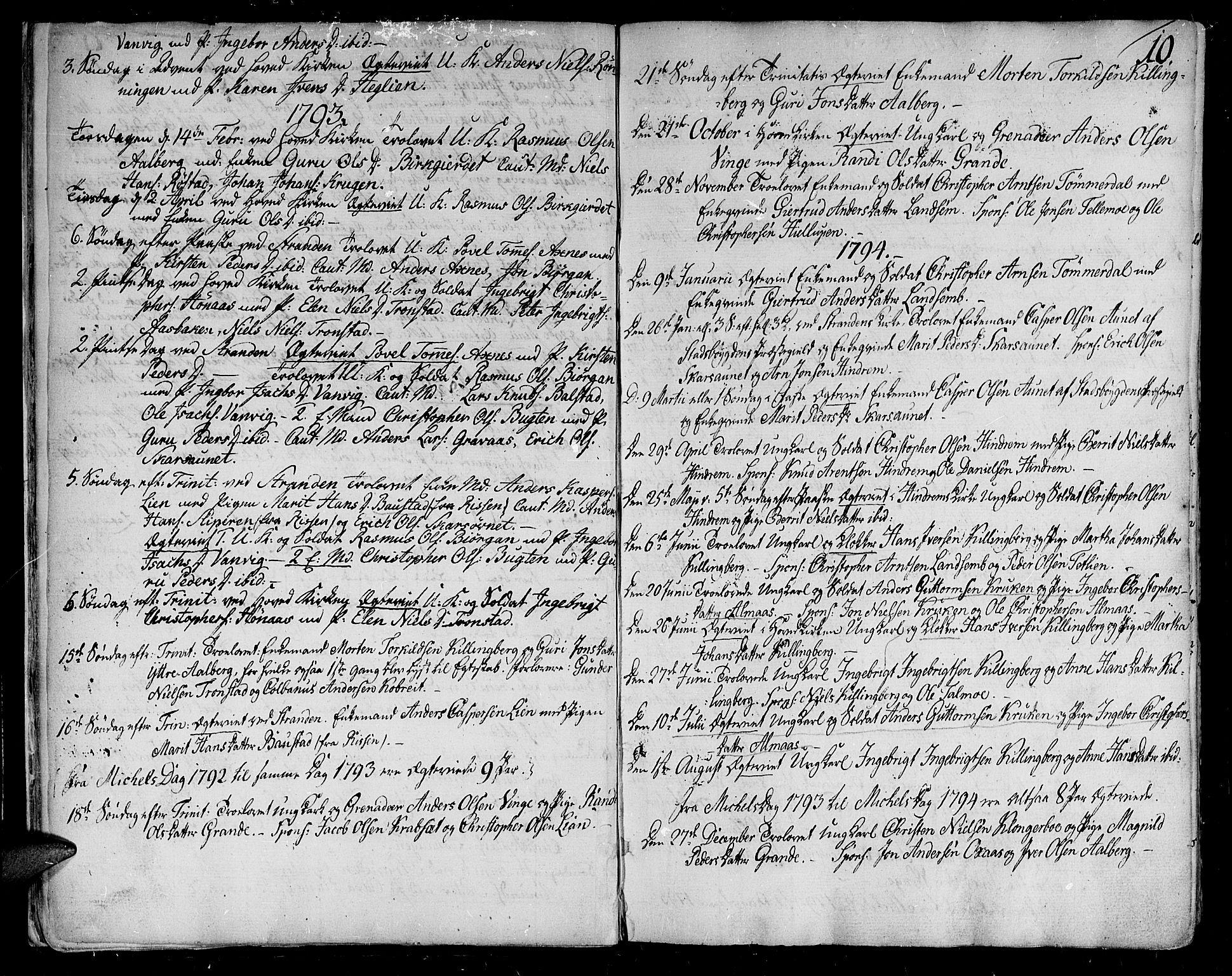 SAT, Ministerialprotokoller, klokkerbøker og fødselsregistre - Nord-Trøndelag, 701/L0004: Ministerialbok nr. 701A04, 1783-1816, s. 10