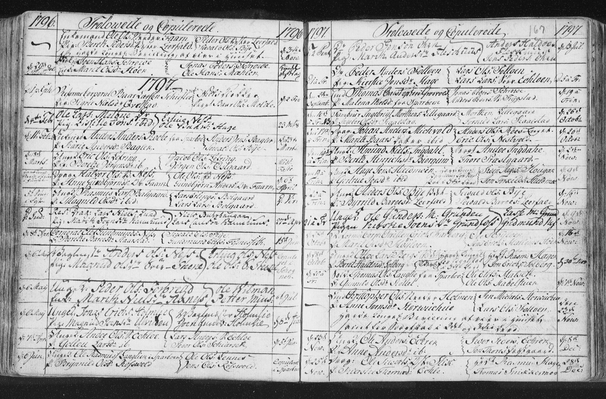 SAT, Ministerialprotokoller, klokkerbøker og fødselsregistre - Nord-Trøndelag, 723/L0232: Ministerialbok nr. 723A03, 1781-1804, s. 167