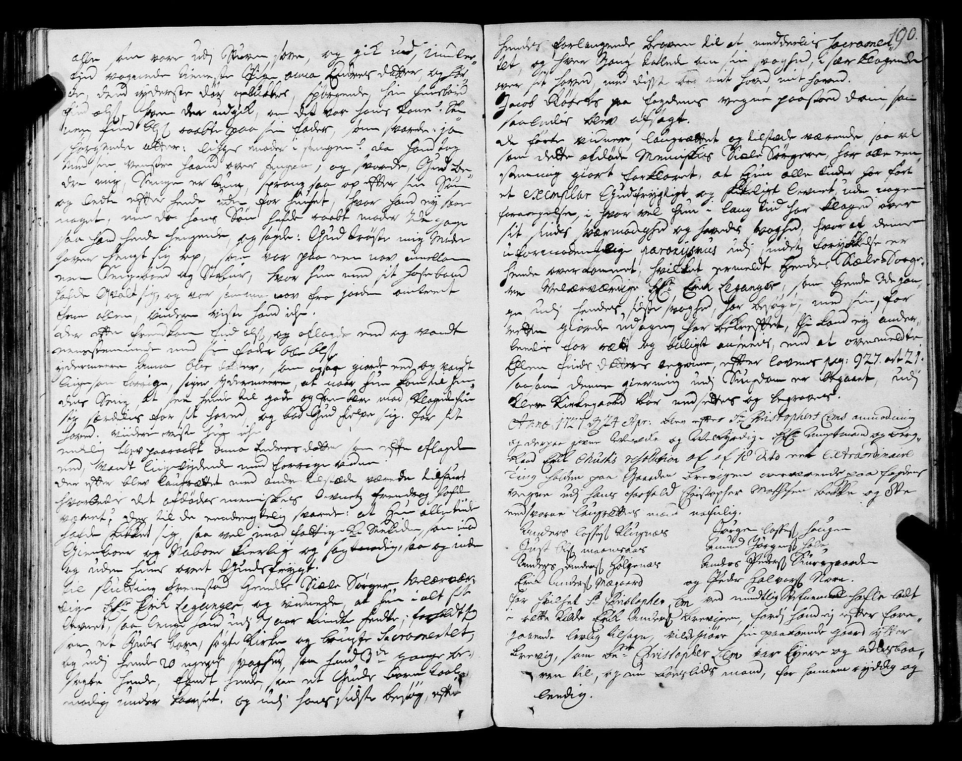 SAT, Romsdal sorenskriveri, 1/1A/L0009: Tingbok, 1722-1728, s. 189b-190a