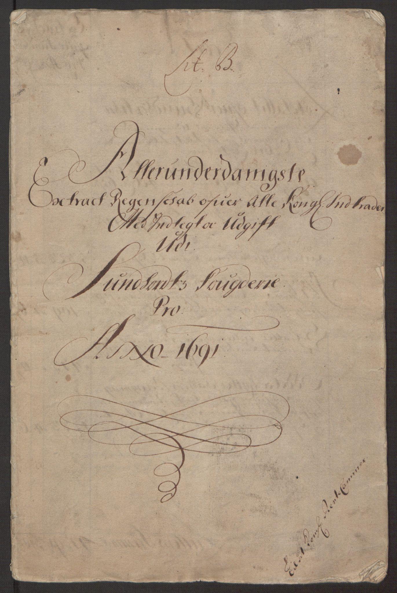 RA, Rentekammeret inntil 1814, Reviderte regnskaper, Fogderegnskap, R48/L2973: Fogderegnskap Sunnhordland og Hardanger, 1691-1692, s. 3