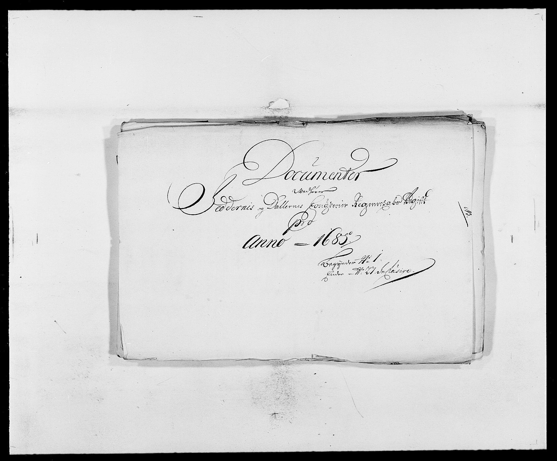 RA, Rentekammeret inntil 1814, Reviderte regnskaper, Fogderegnskap, R46/L2725: Fogderegnskap Jæren og Dalane, 1685, s. 120