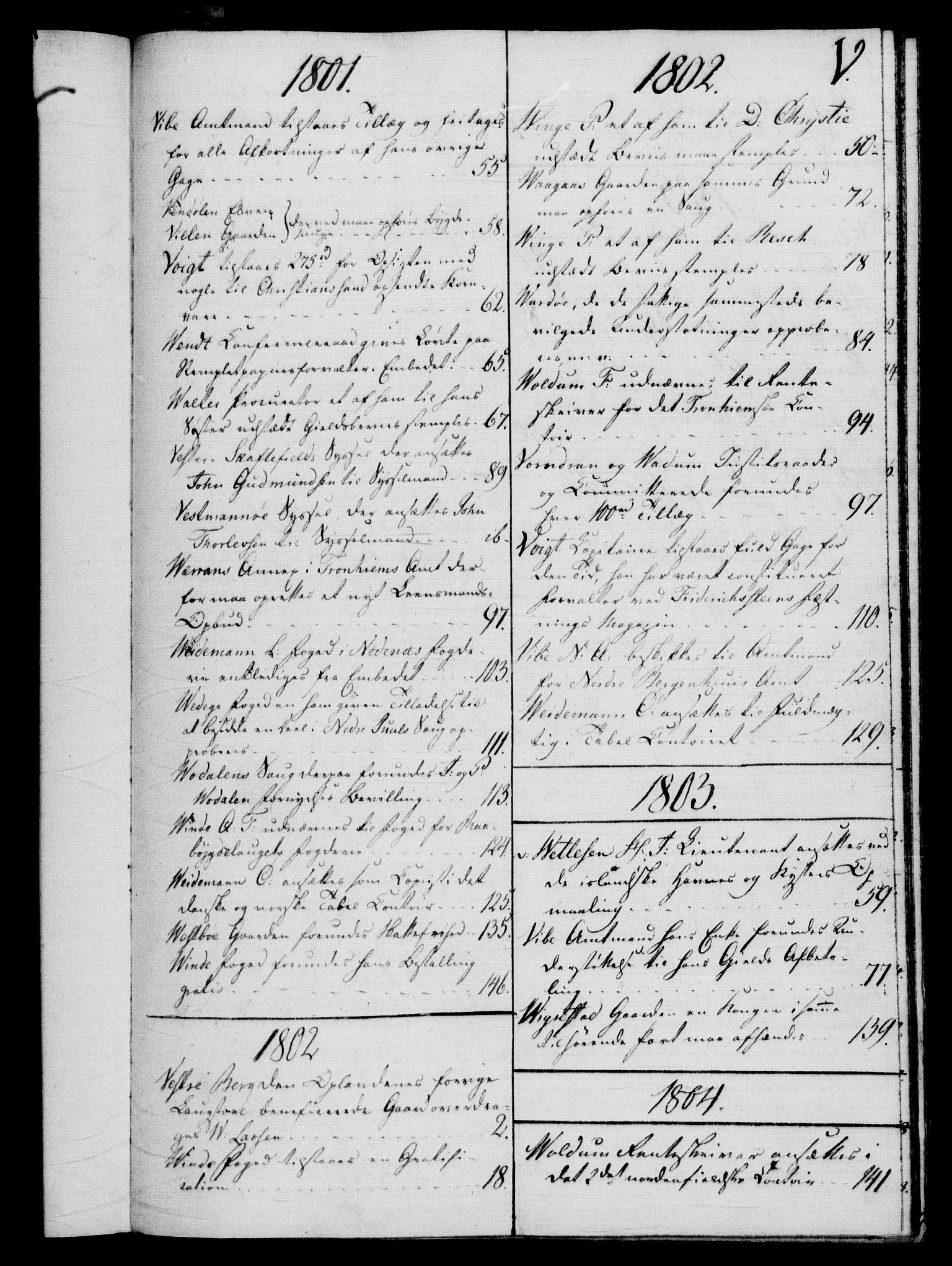 RA, Rentekammeret, Kammerkanselliet, G/Gf/Gfb/L0016: Register til norske relasjons- og resolusjonsprotokoller (merket RK 52.111), 1801-1814, s. 180