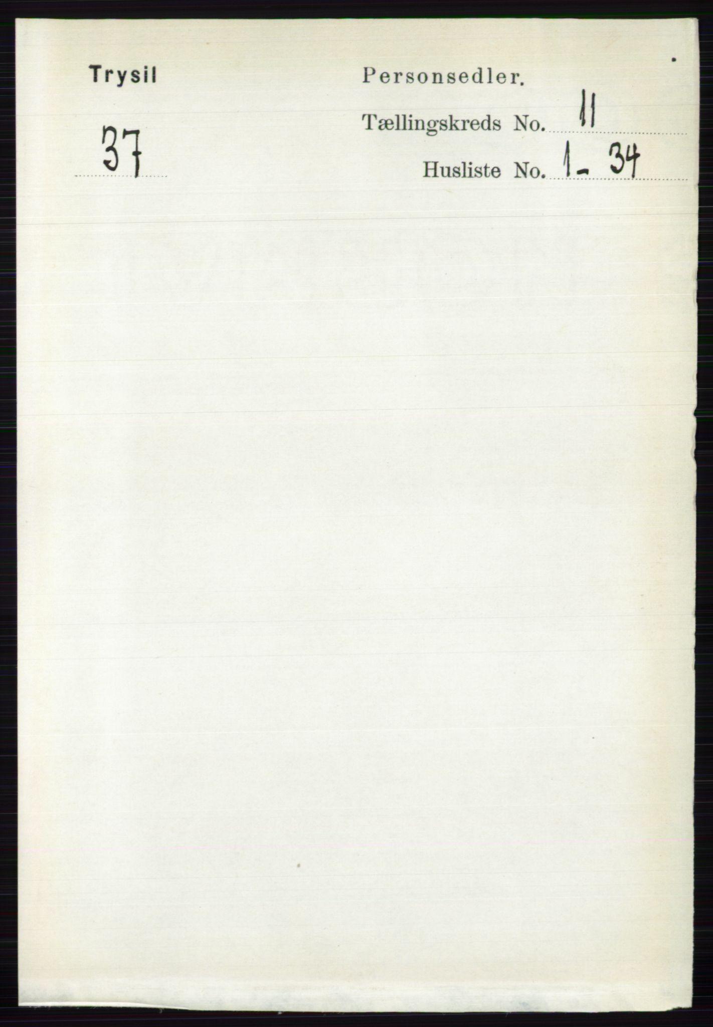 RA, Folketelling 1891 for 0428 Trysil herred, 1891, s. 5516