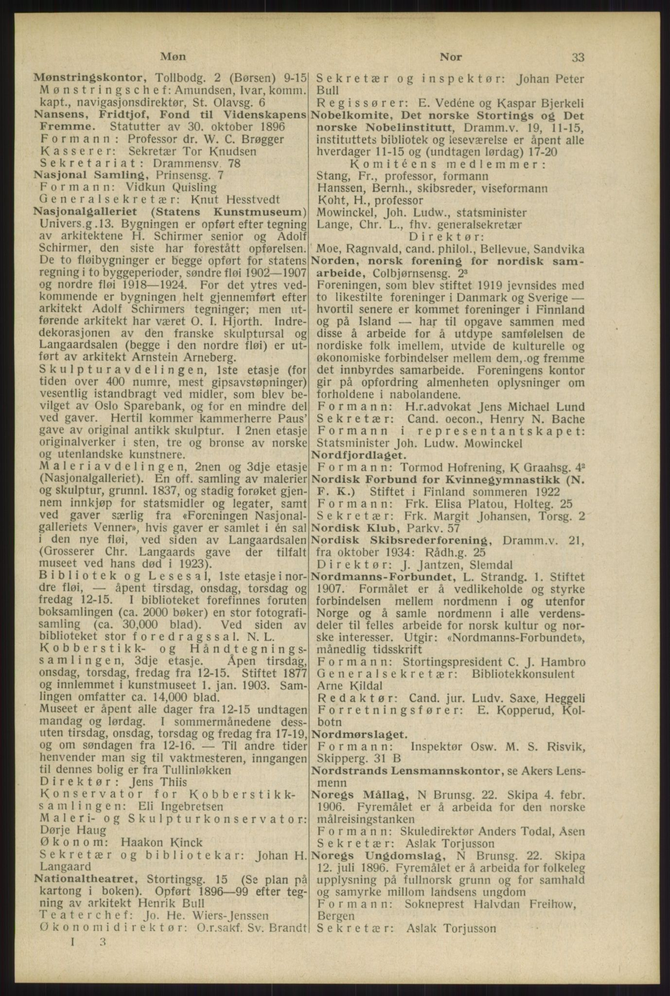 RA, Oslo adressebok (publikasjon)*, 1934, s. 33